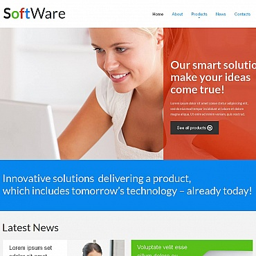 Template Software Moto CMS HTML #52214