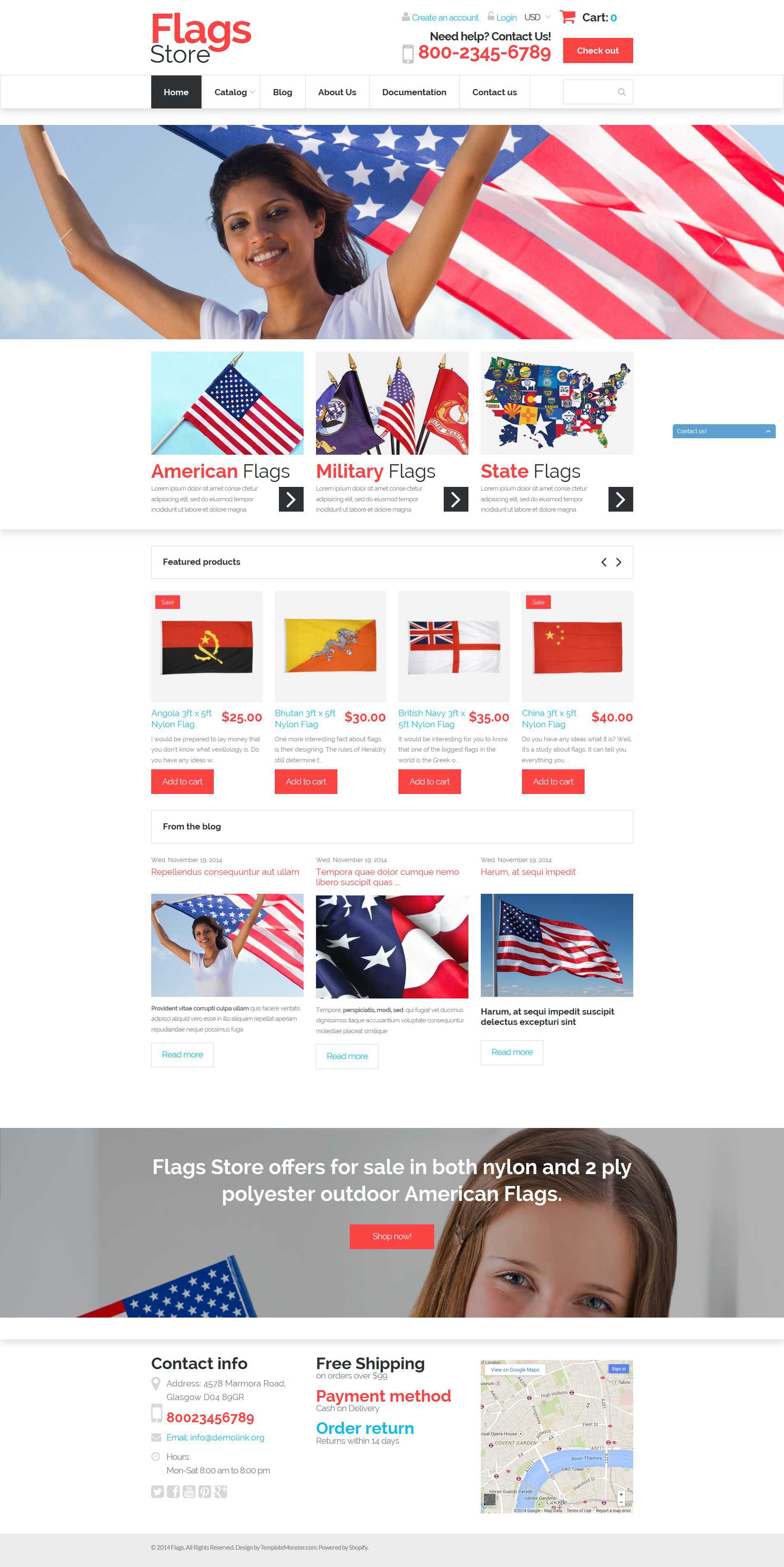 National Flags Shopify Theme