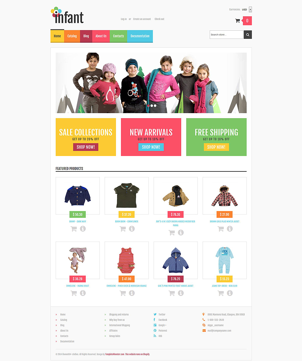 Template Ensegna Themes - Shopify custom page template