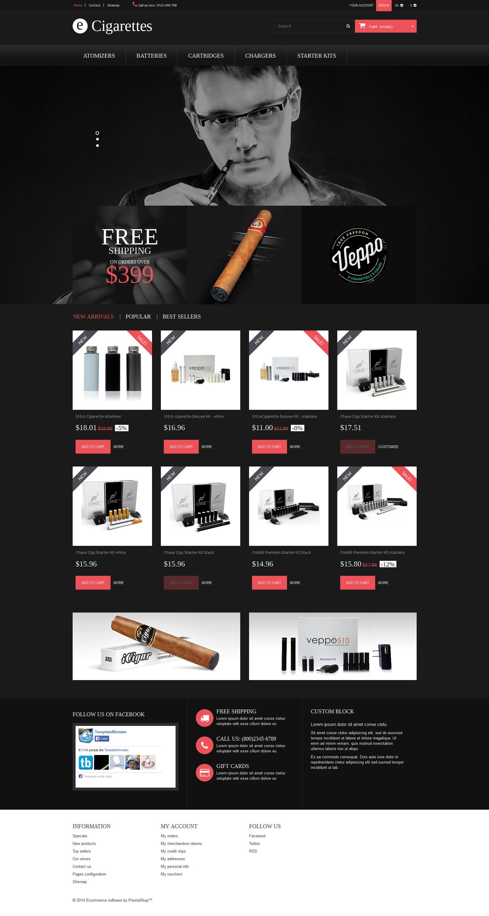 Cigar Smoking PrestaShop Theme