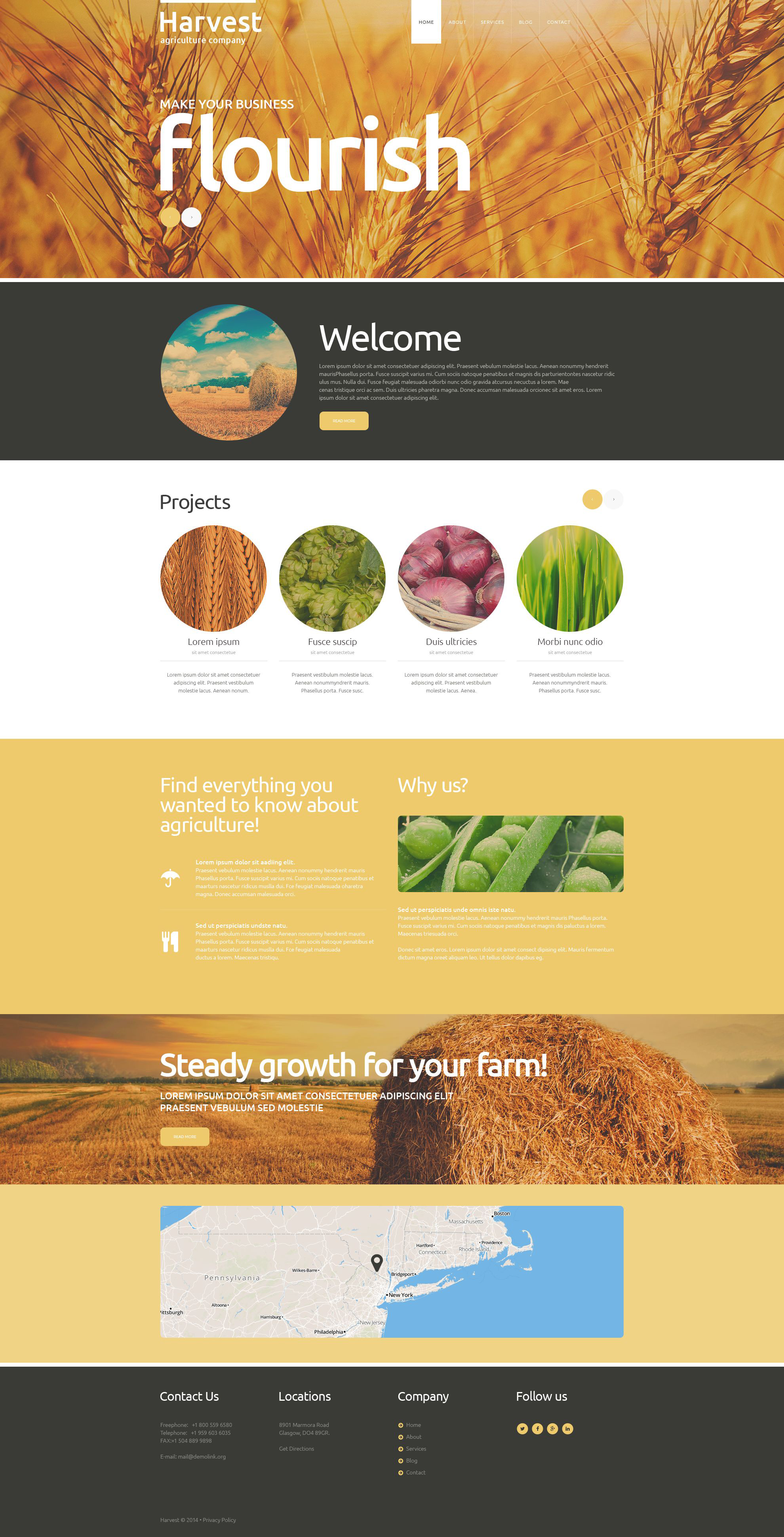 Buy  Grow Harvest Team Joomla Template