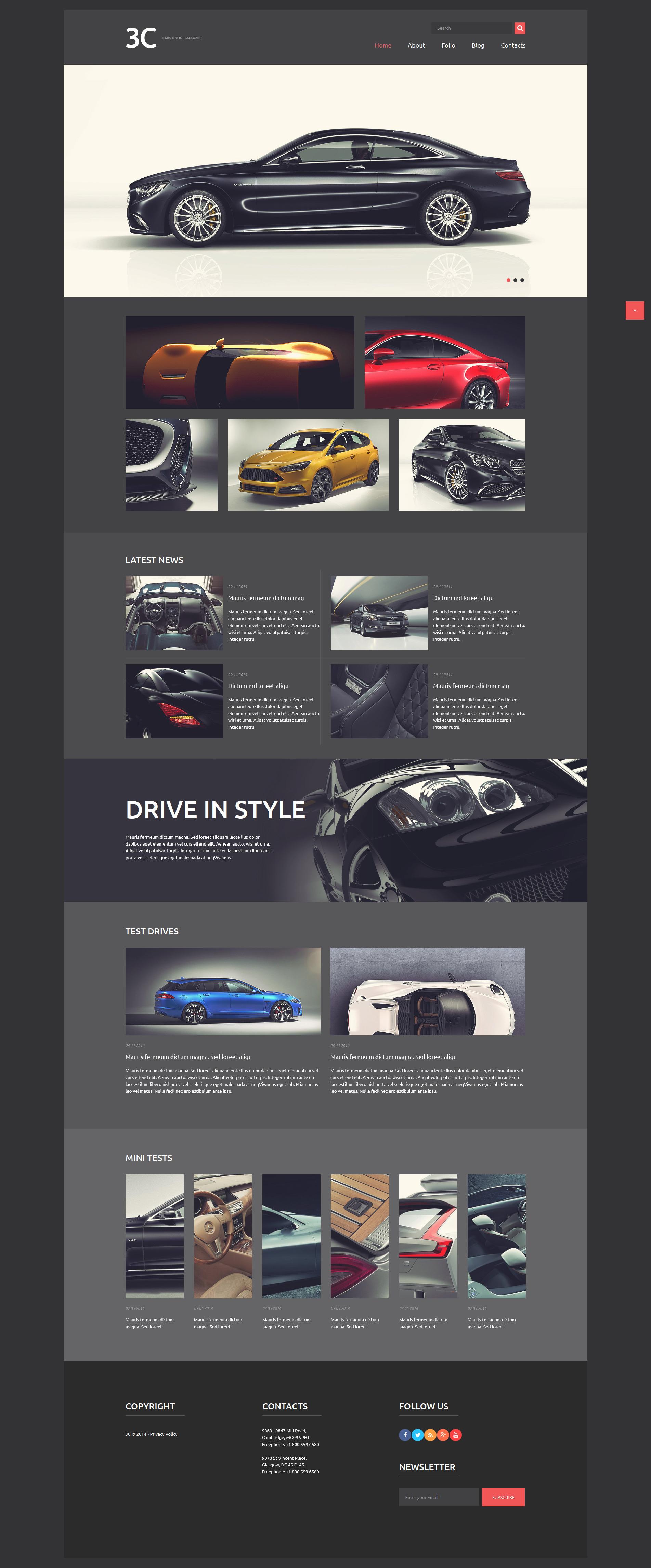 Auto Enthusiasts Club Joomla Template