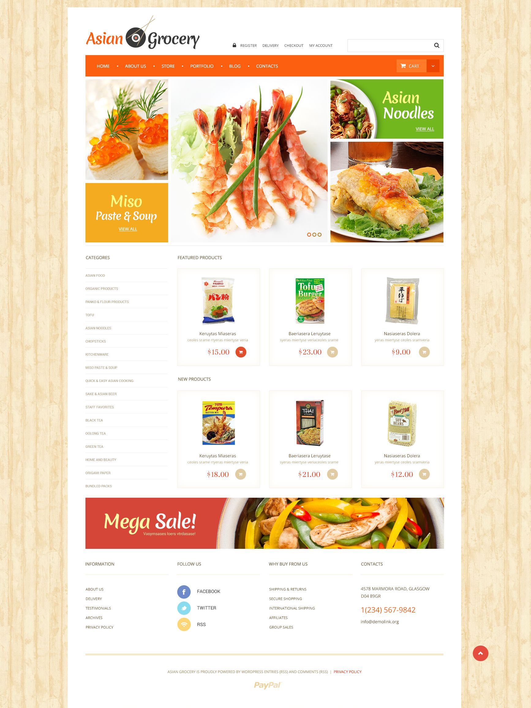 Asian Grocery Store WooCommerce Theme
