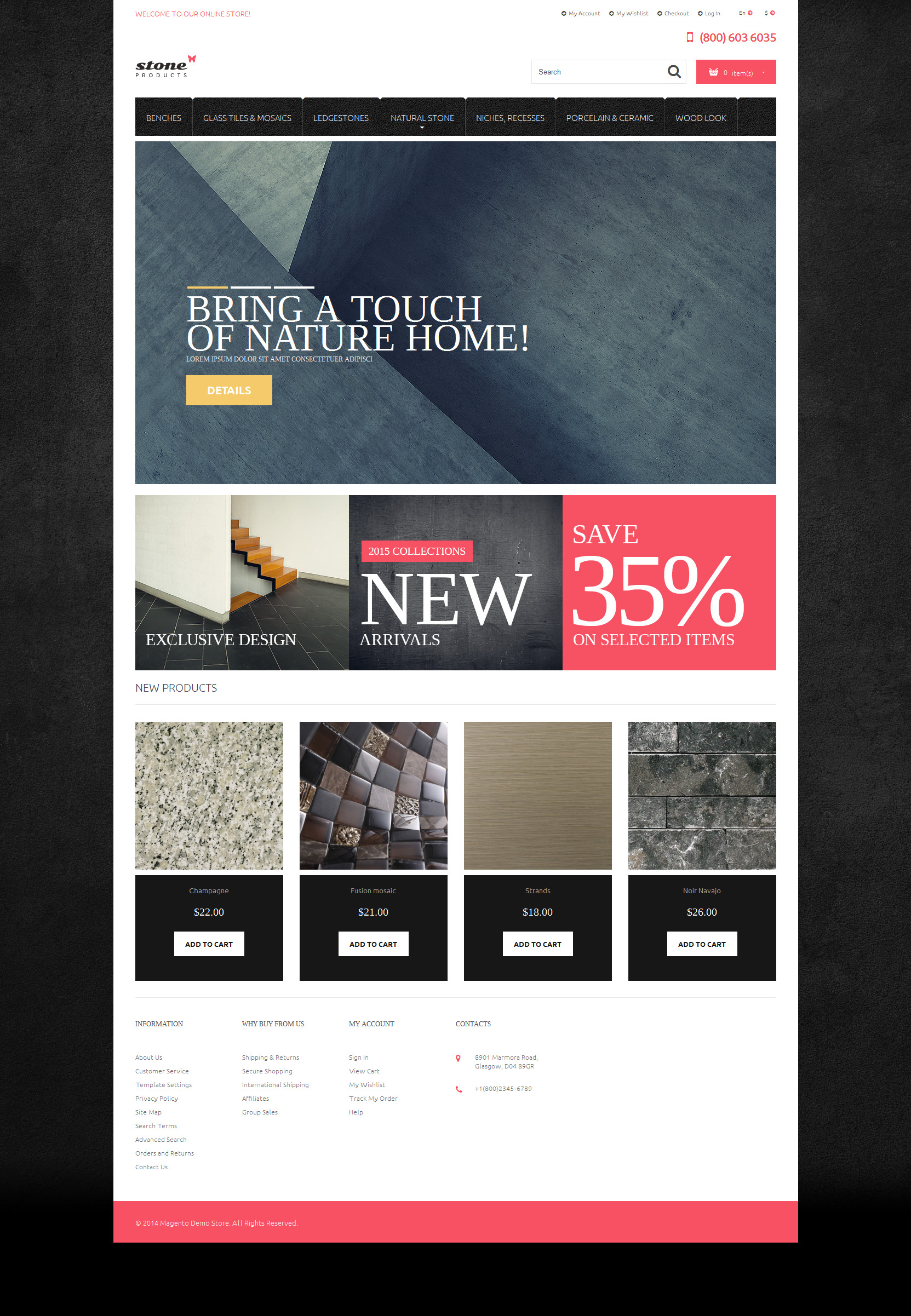 template 52456   tiles stone magento theme website
