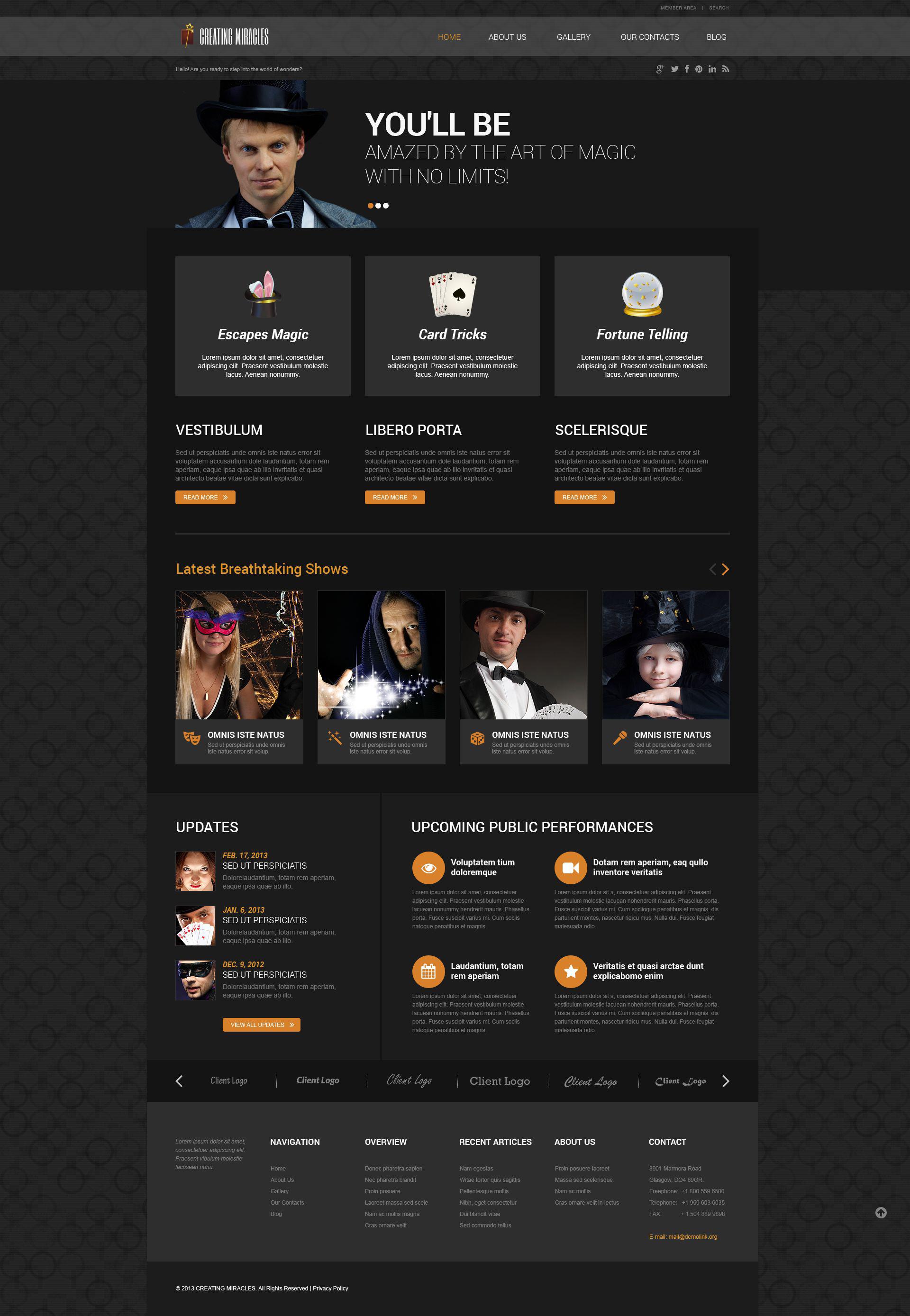 Magician Responsive WordPress Theme