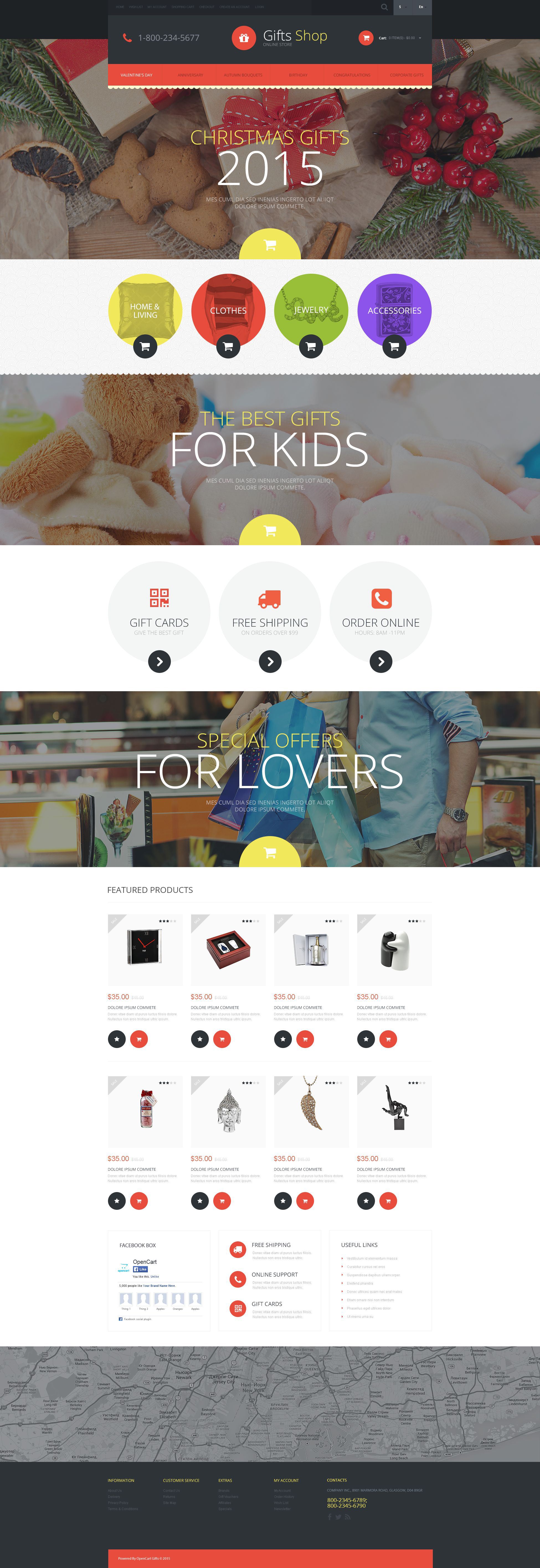 Christmas Gifts Store OpenCart Template