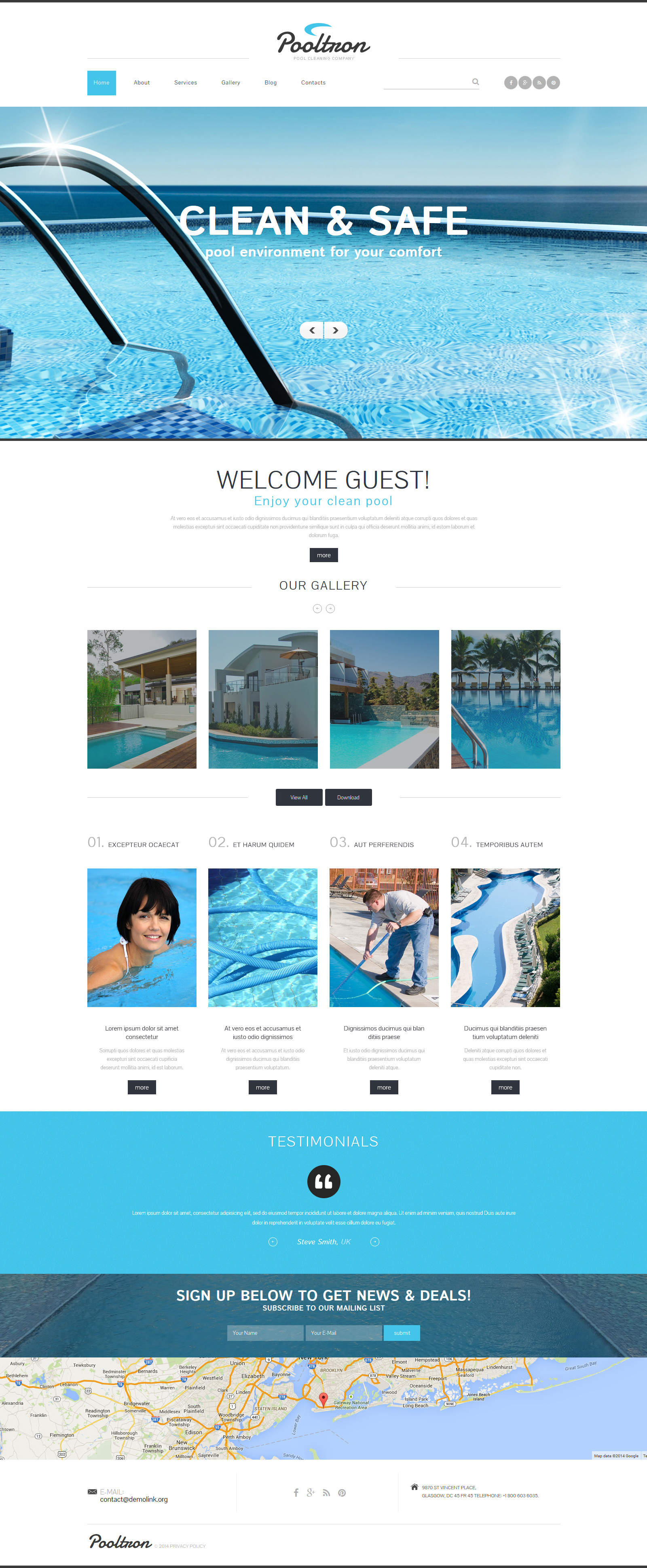Pool Cleaning Services Joomla Template