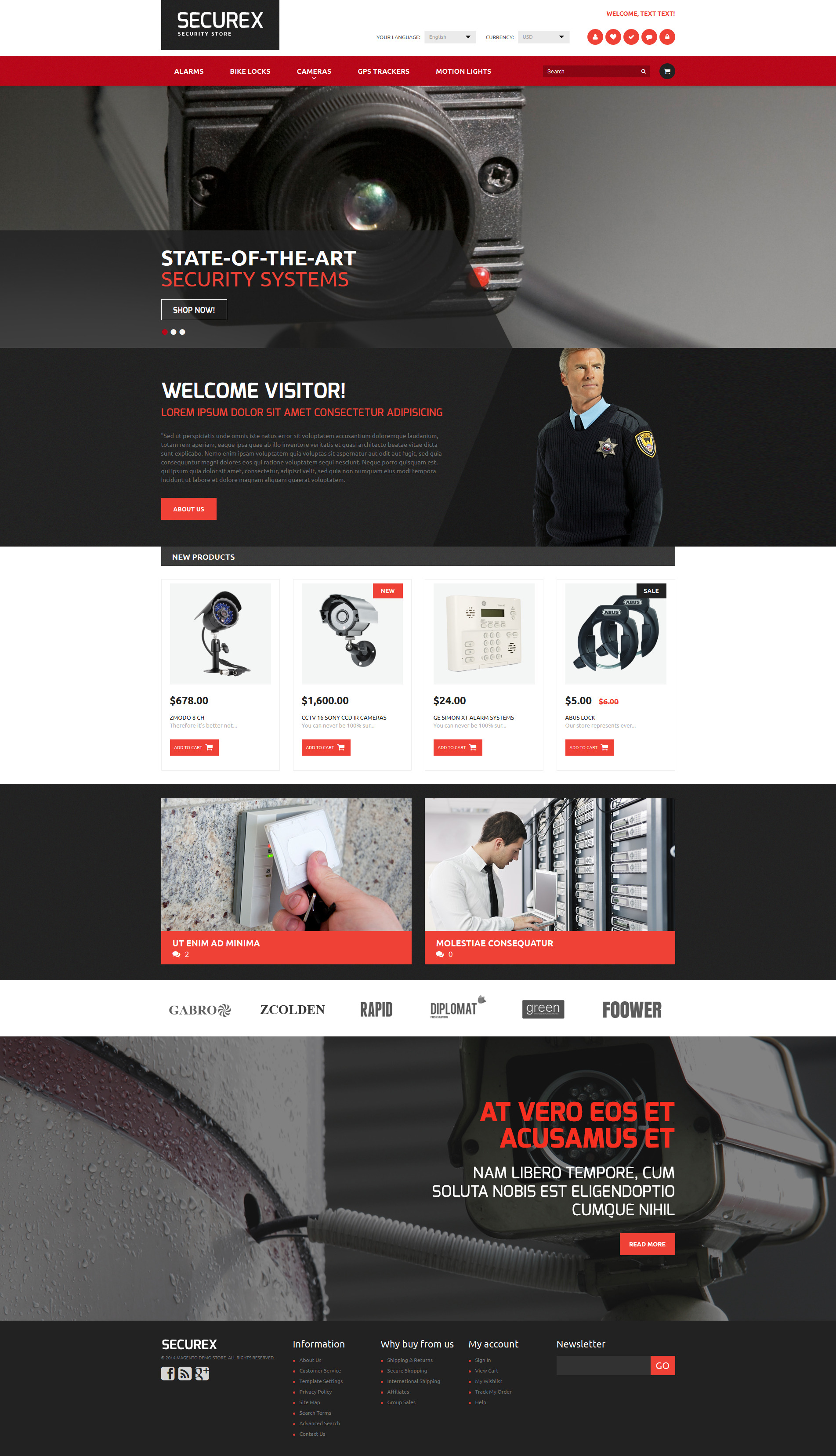 Security Products Store Magento Theme