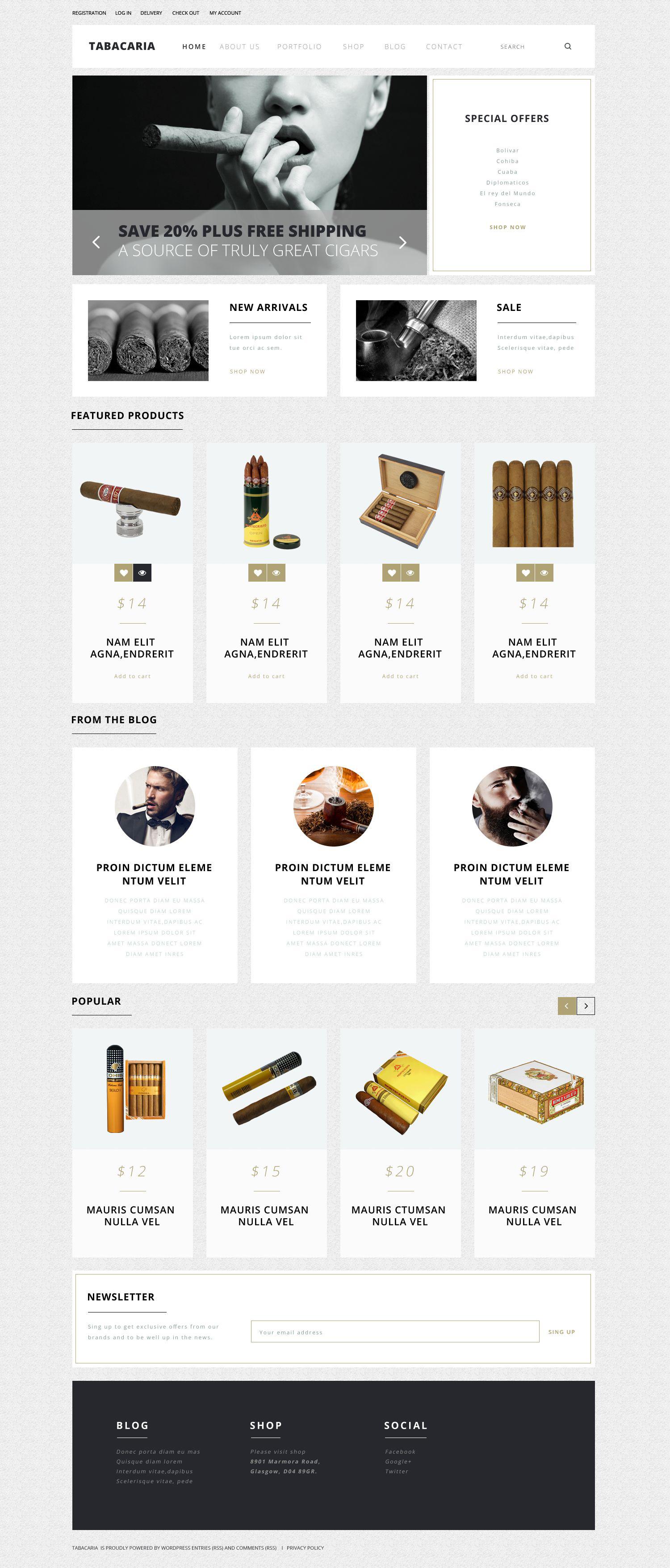 Tobacco Shop WooCommerce Theme