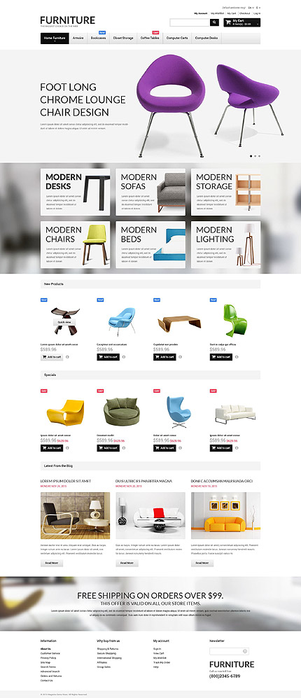 Template 52645 for Magento community templates