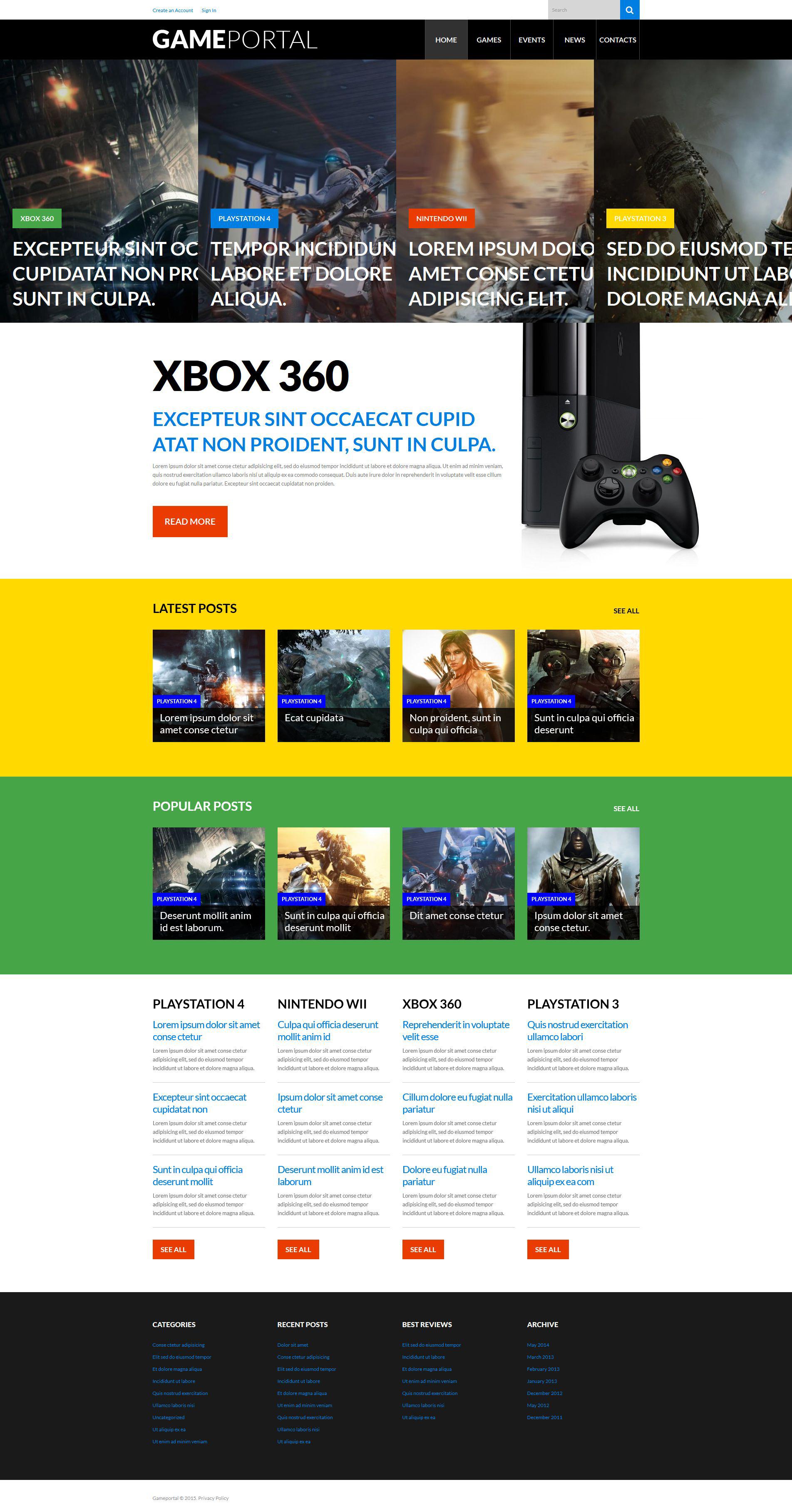 Video Gaming Entertainment WordPress Theme