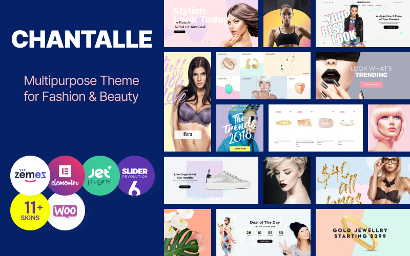 Chantalle - Multipurpose Woman Fashion Elementor WordPress Theme