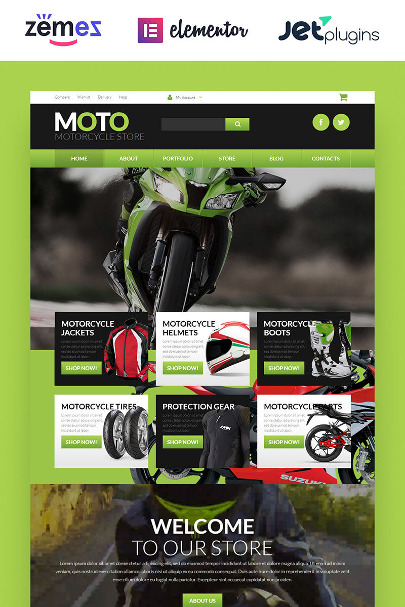 Motorcycle Store WooCommerce Theme