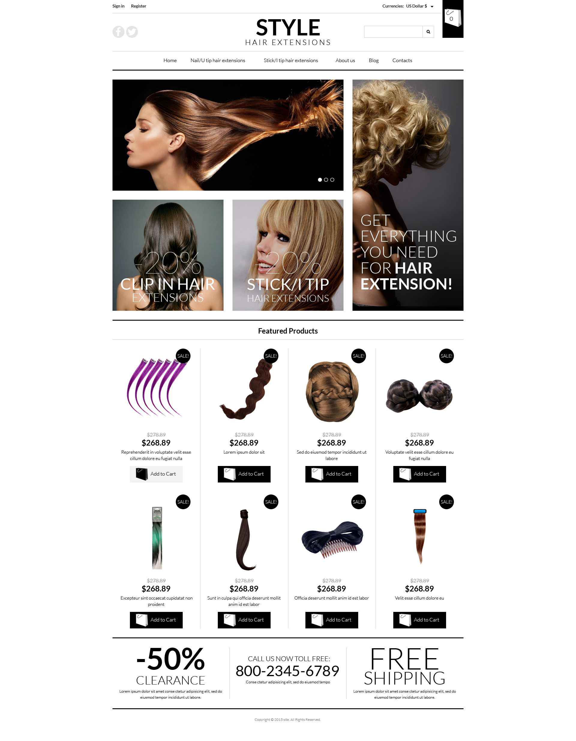 Pro Hair Extensions VirtueMart Template
