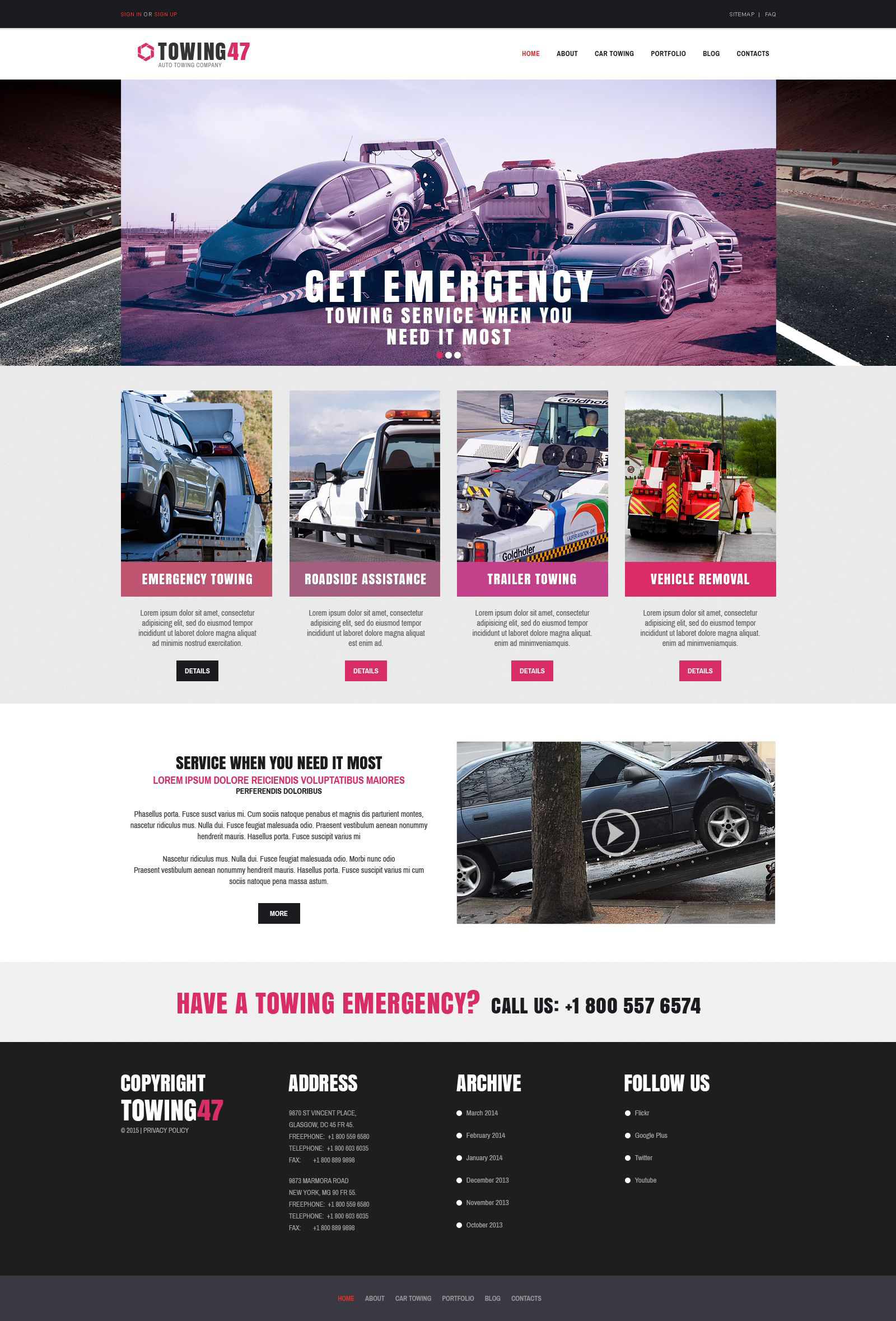 Car Repair Responsive Drupal Template