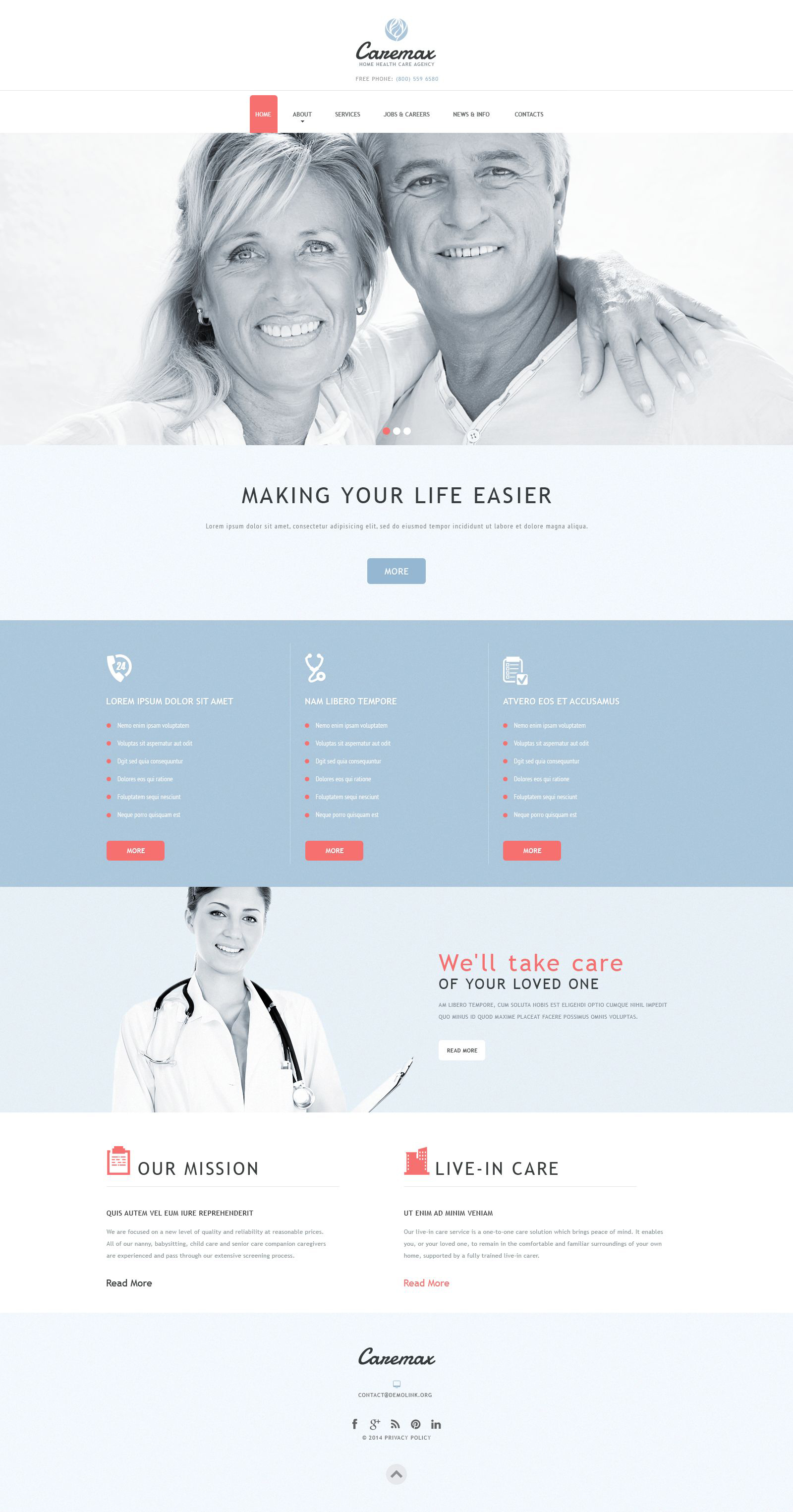 Home Health Care Services Joomla Template