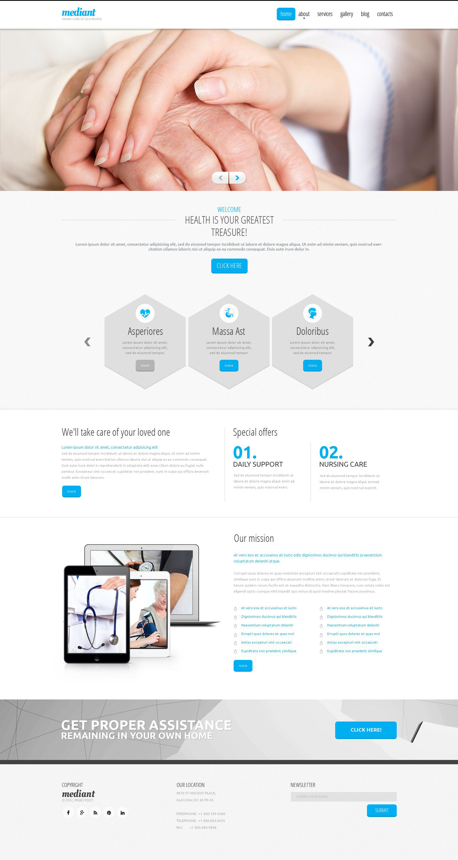 Elderly Care Responsive Drupal Template
