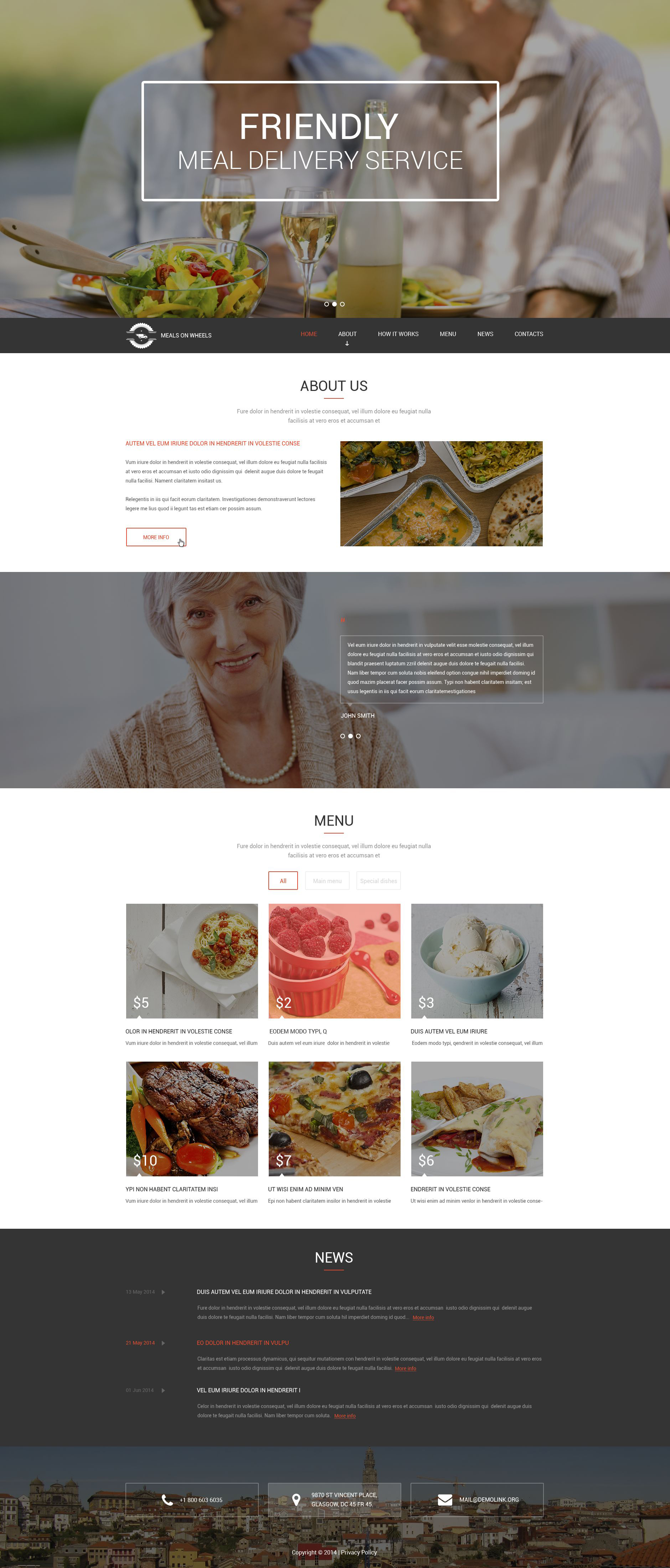 Meals for Seniors Drupal Template