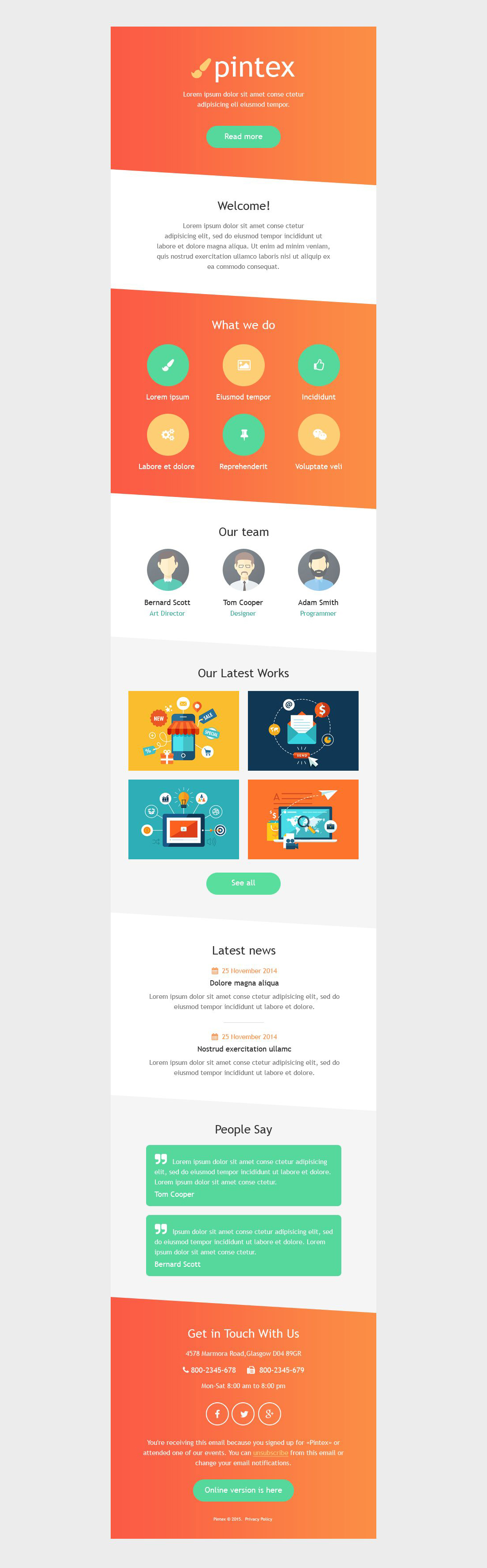 Web Development Responsive Newsletter Template