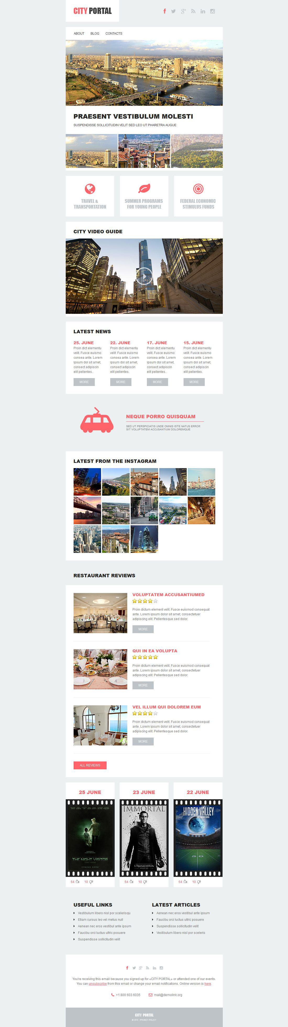 City Portal Responsive Newsletter Template