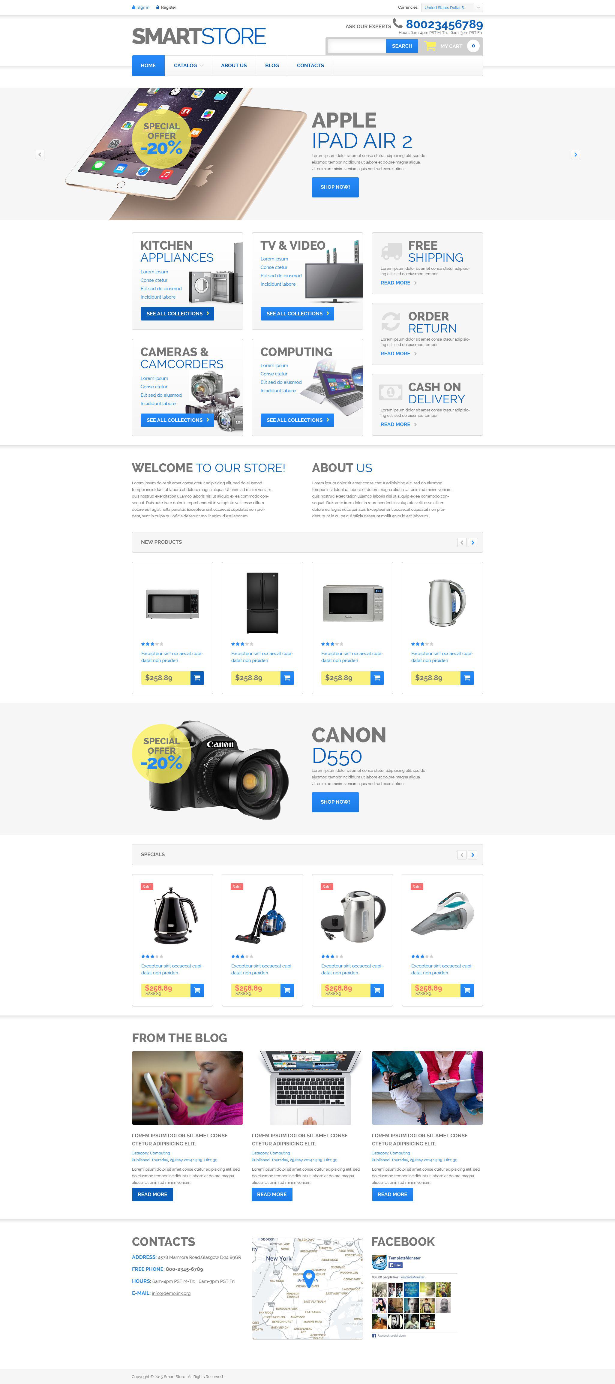 Home Electronics VirtueMart Template