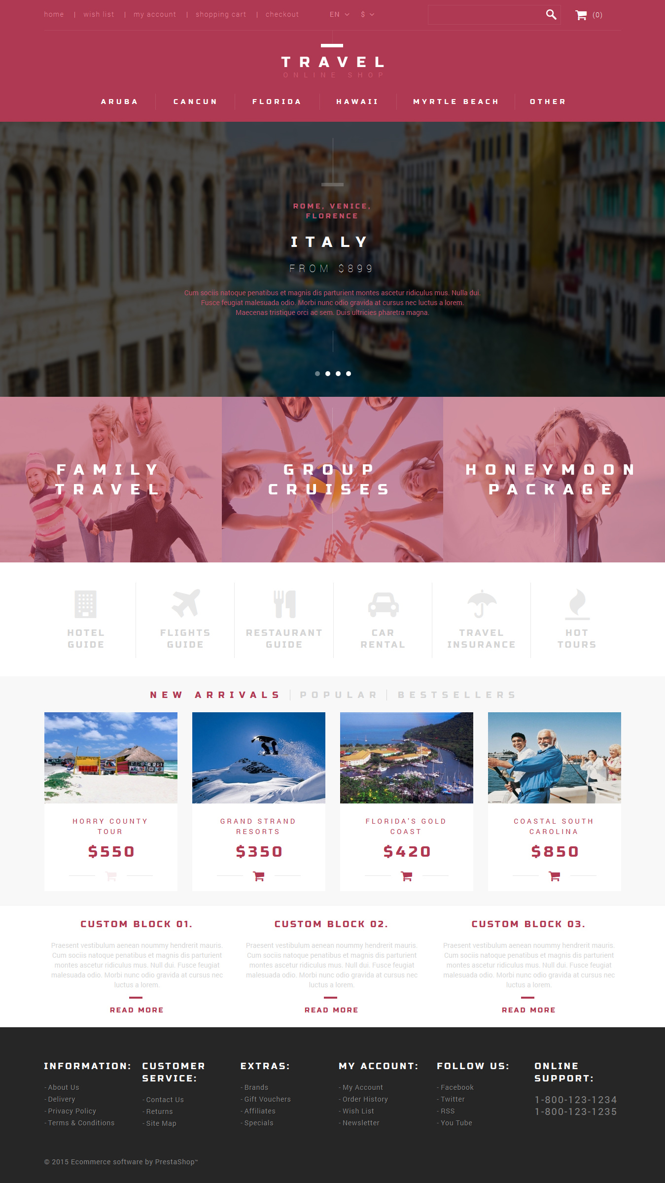 Tour Agent PrestaShop Theme
