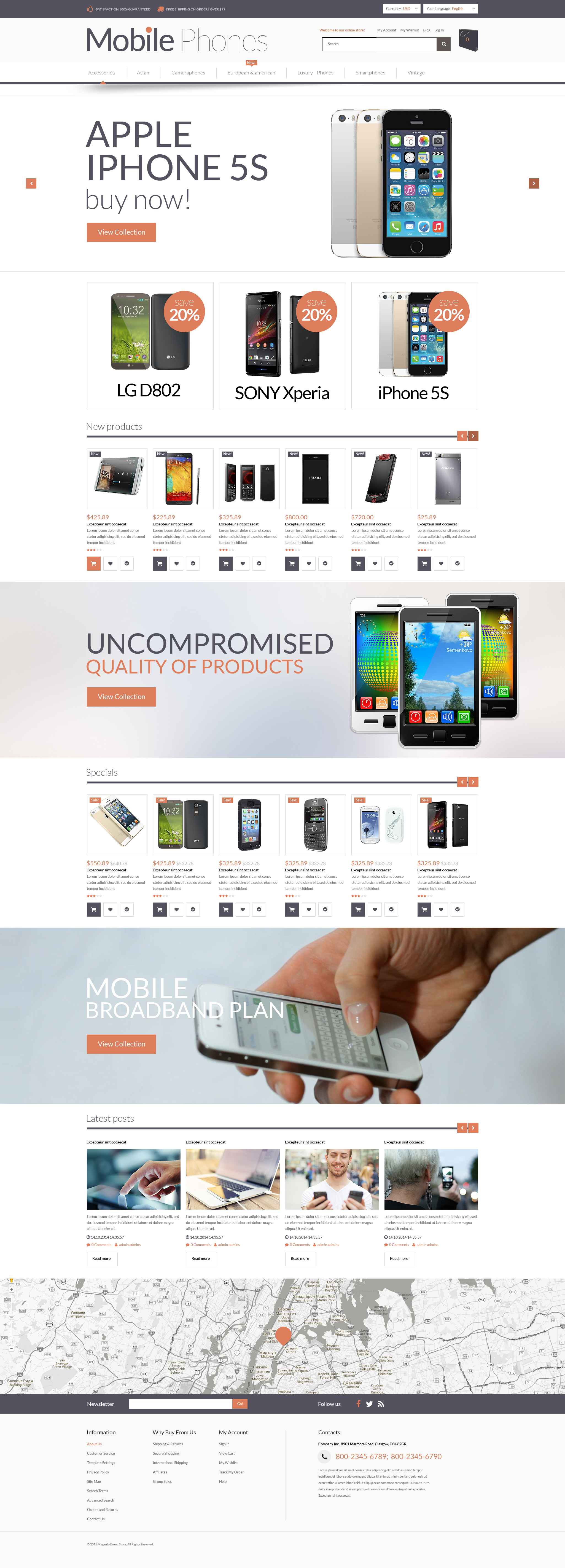 Mobile Store Responsive Magento Theme