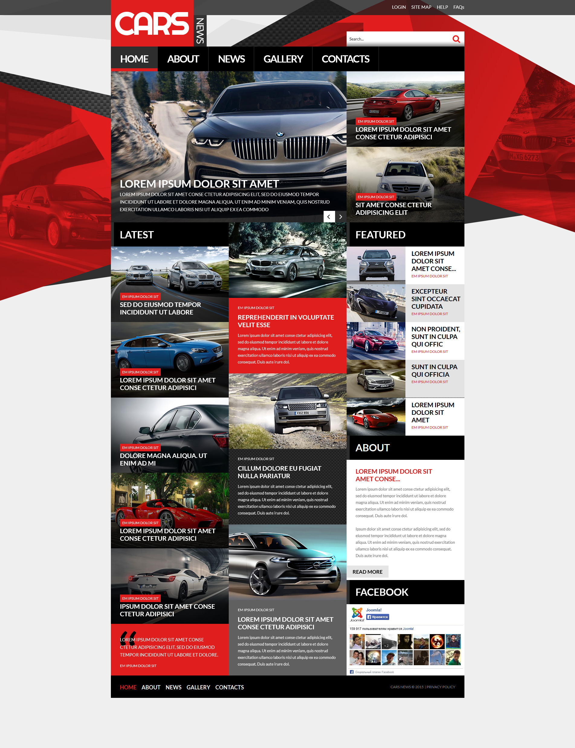 Automobile Joomla Template