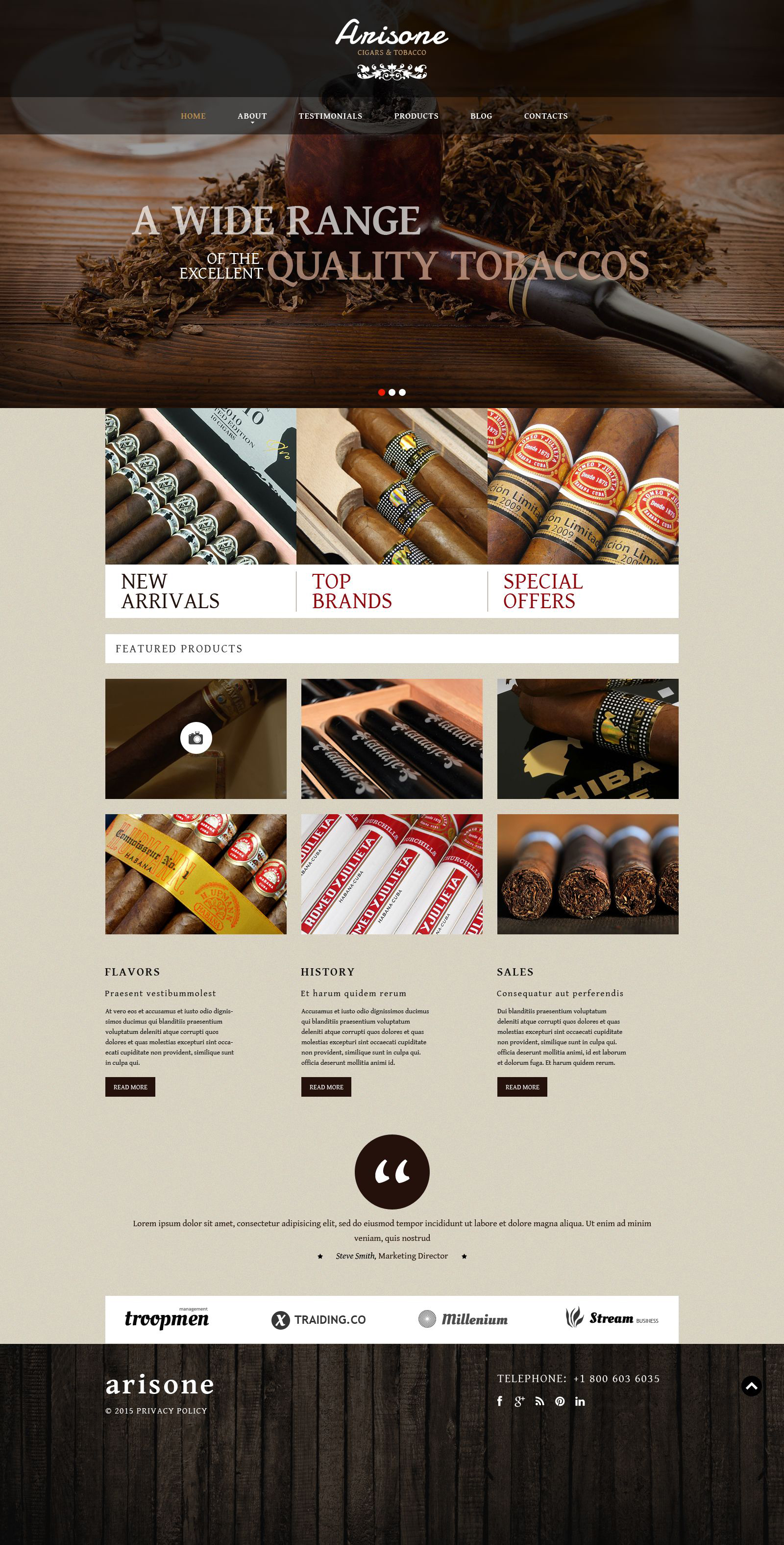 Tobacco and Cigars WordPress Theme