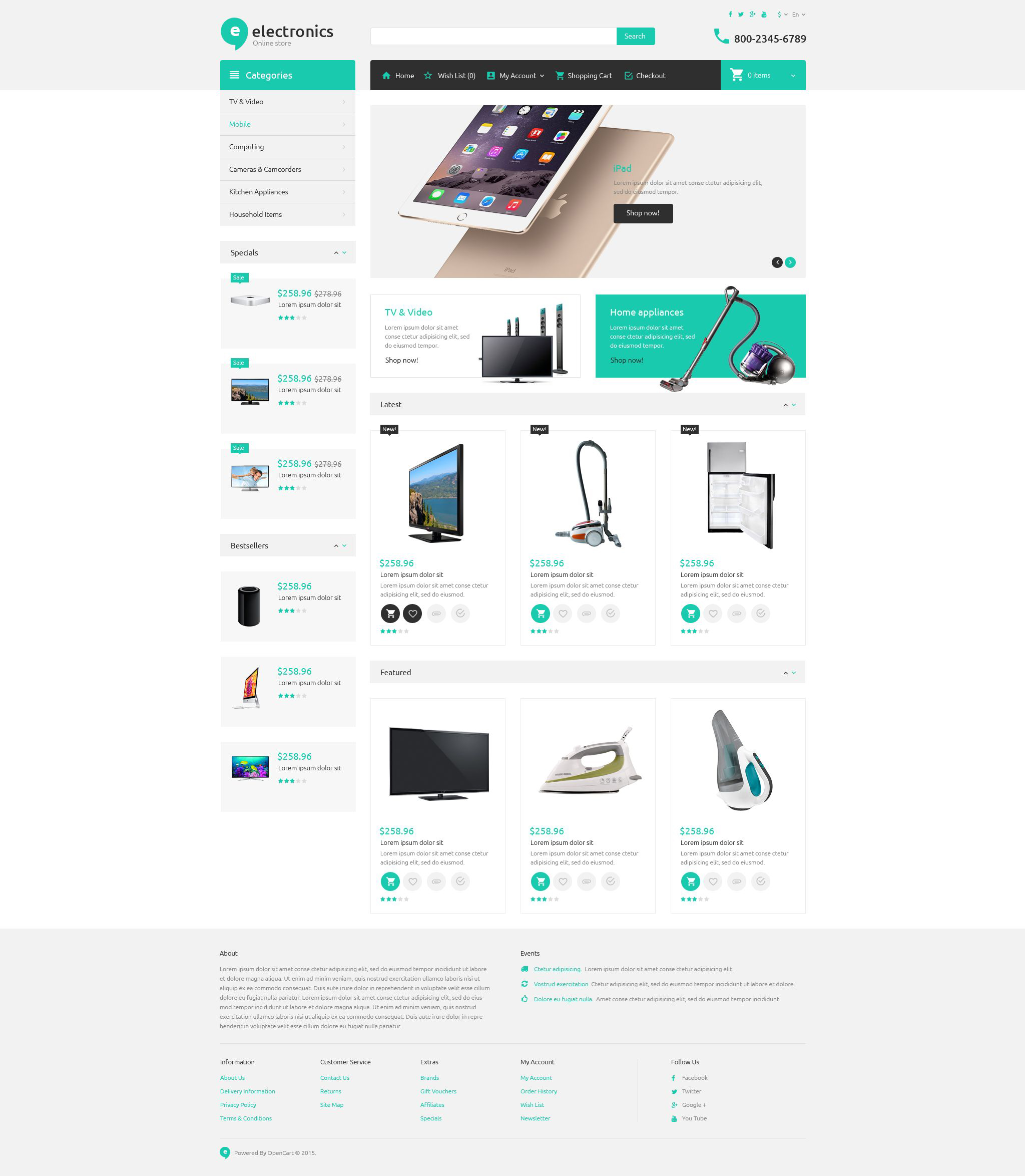 Electronic Store OpenCart Template