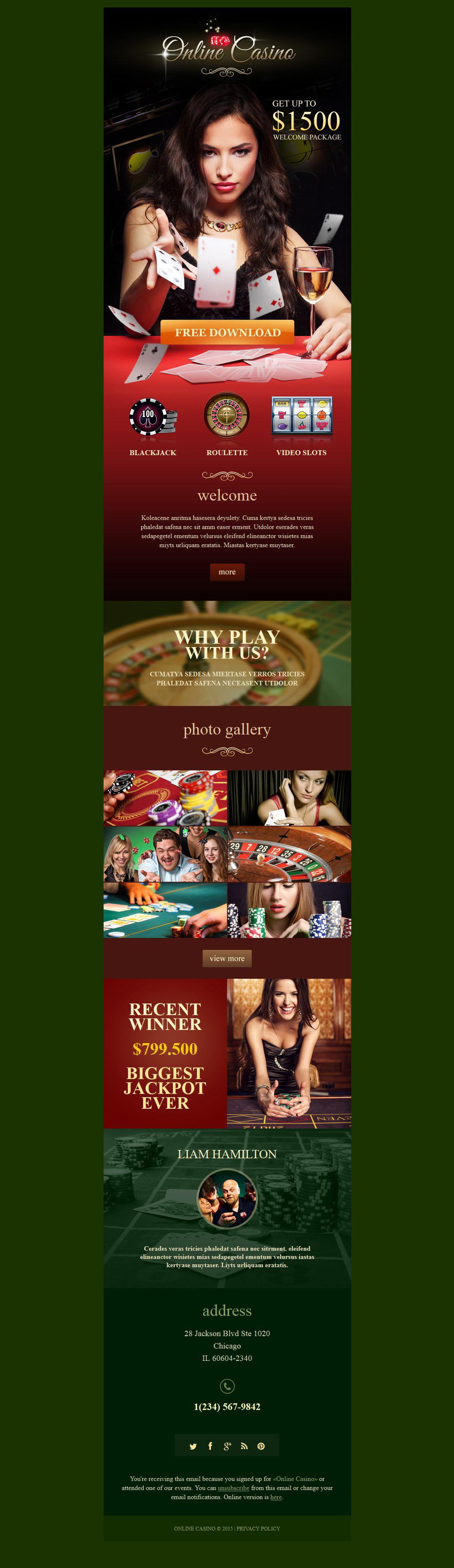 Online Casino Responsive Newsletter Template