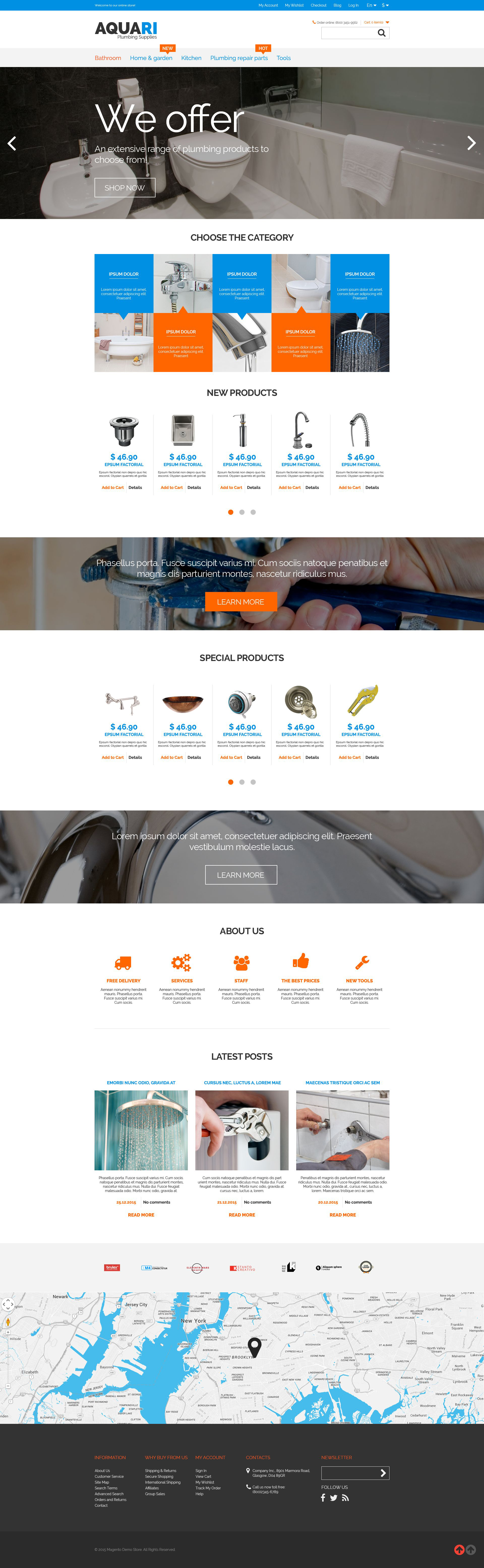 Plumbing Solutions Magento Theme