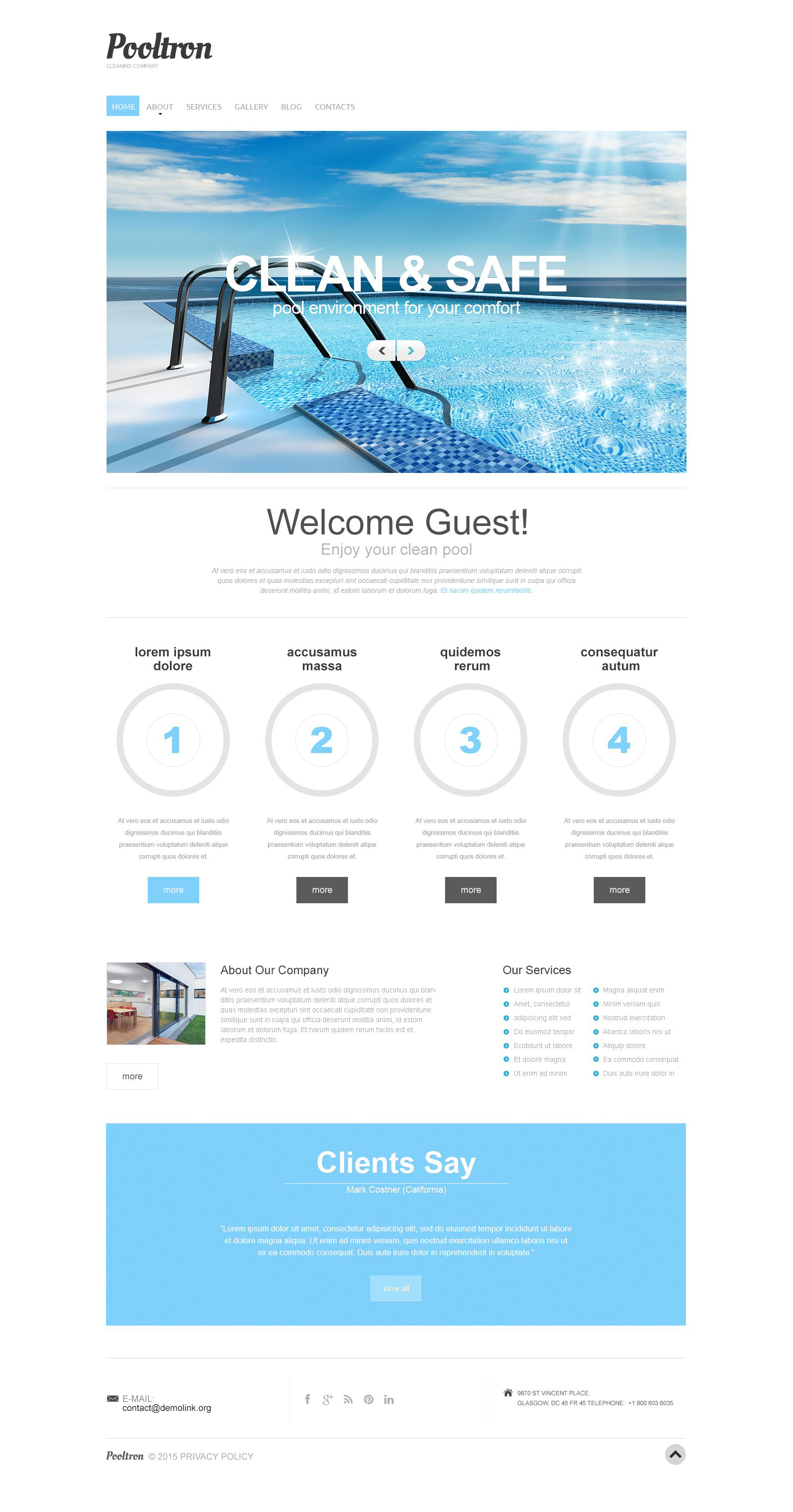 Swimming Pool Responsive Drupal Template