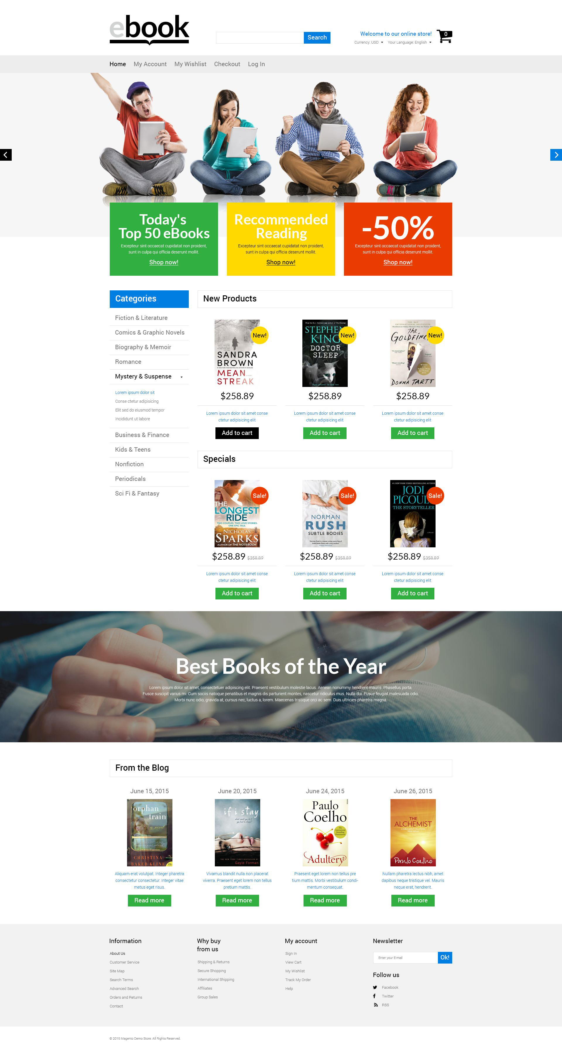 Selling E-books Magento Theme
