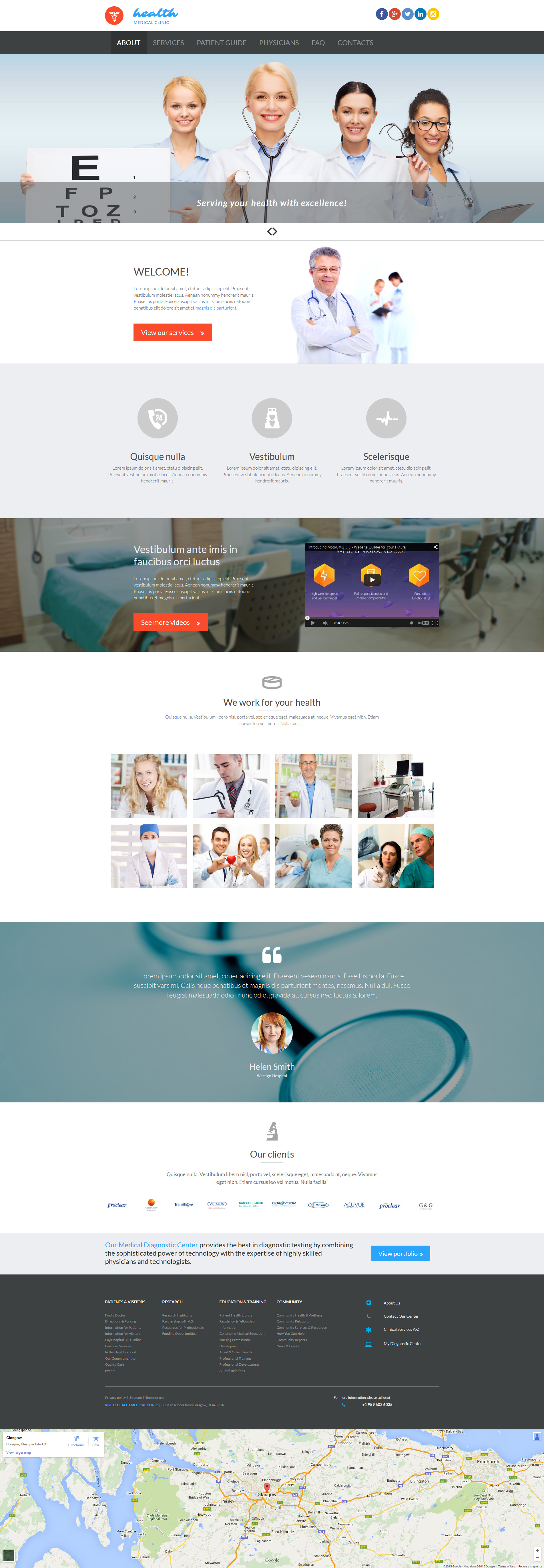 Medical Moto CMS 3 Template