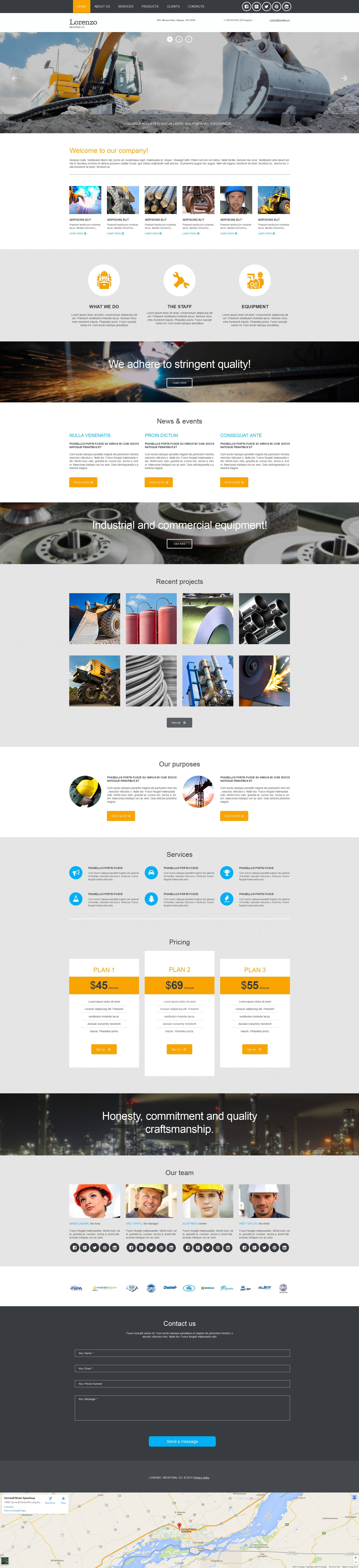 Industrial Responsive Moto CMS 3 Template
