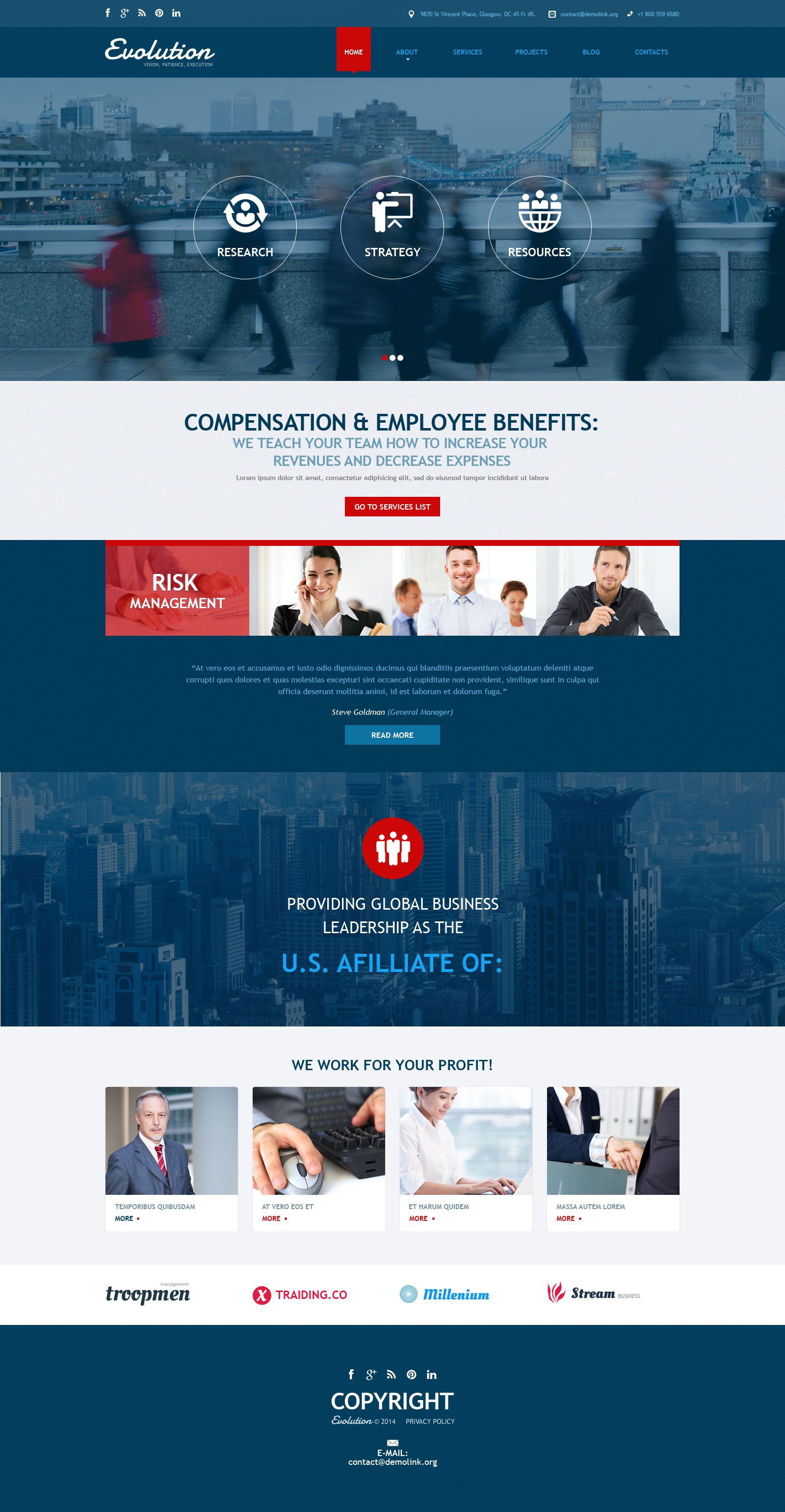 Management Services Joomla Template