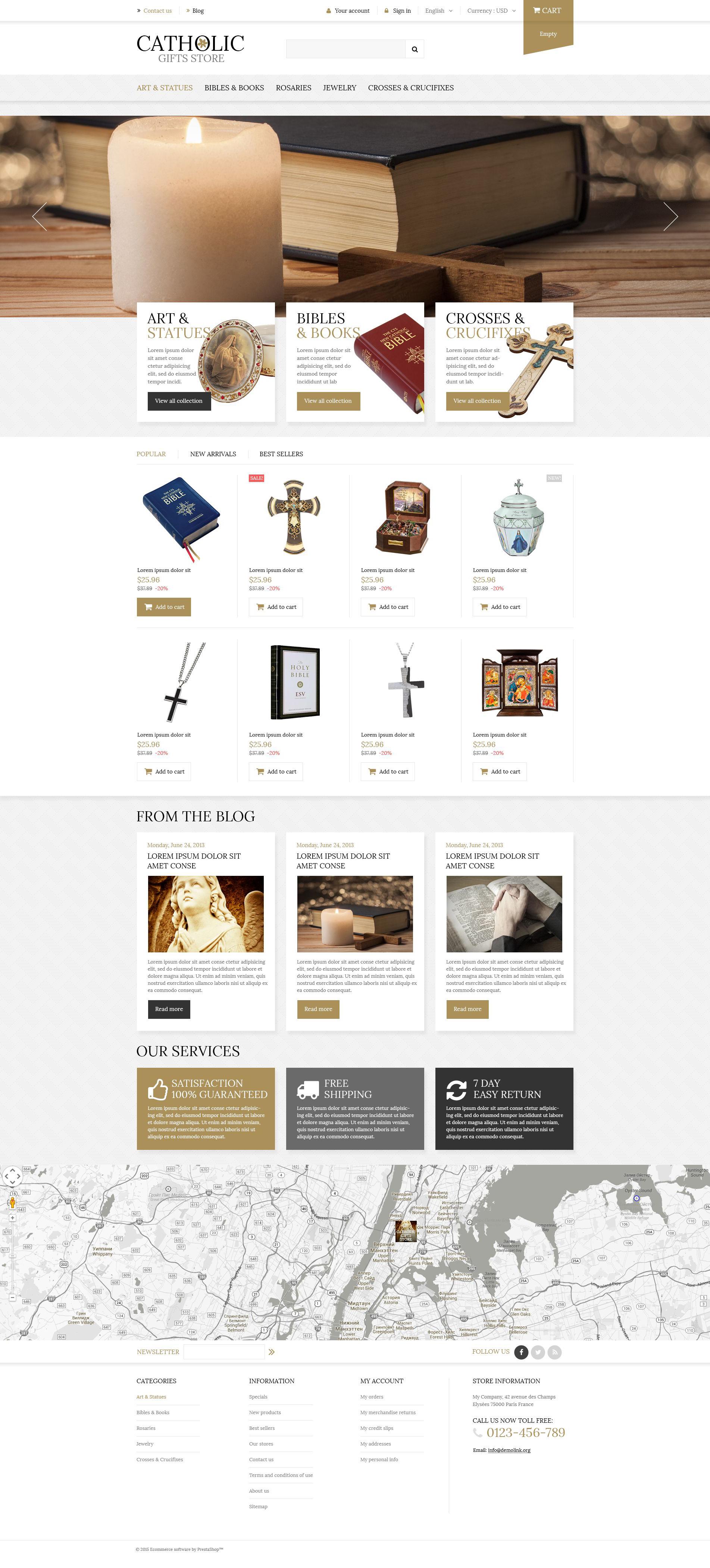Religious Items PrestaShop Theme