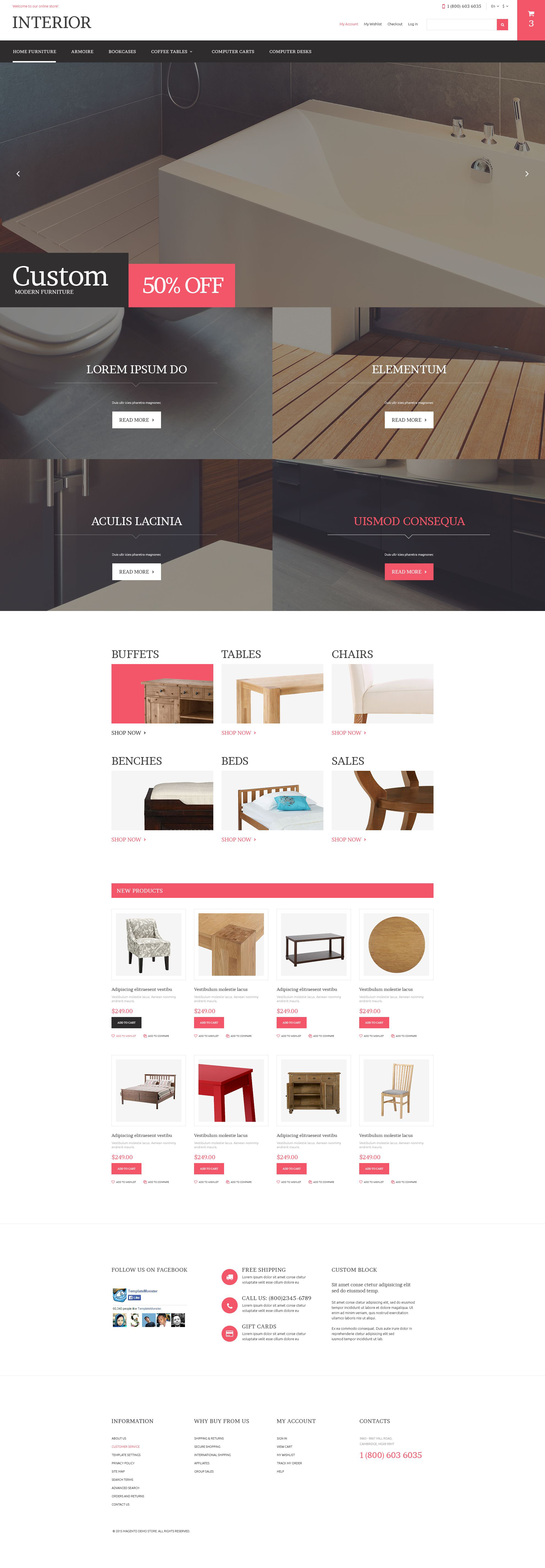 Home Furniture Store Magento Theme