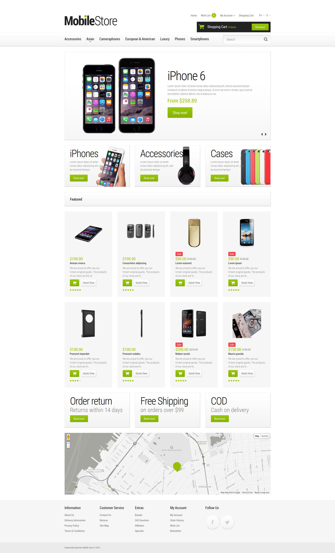 Mobile Phones OpenCart Template