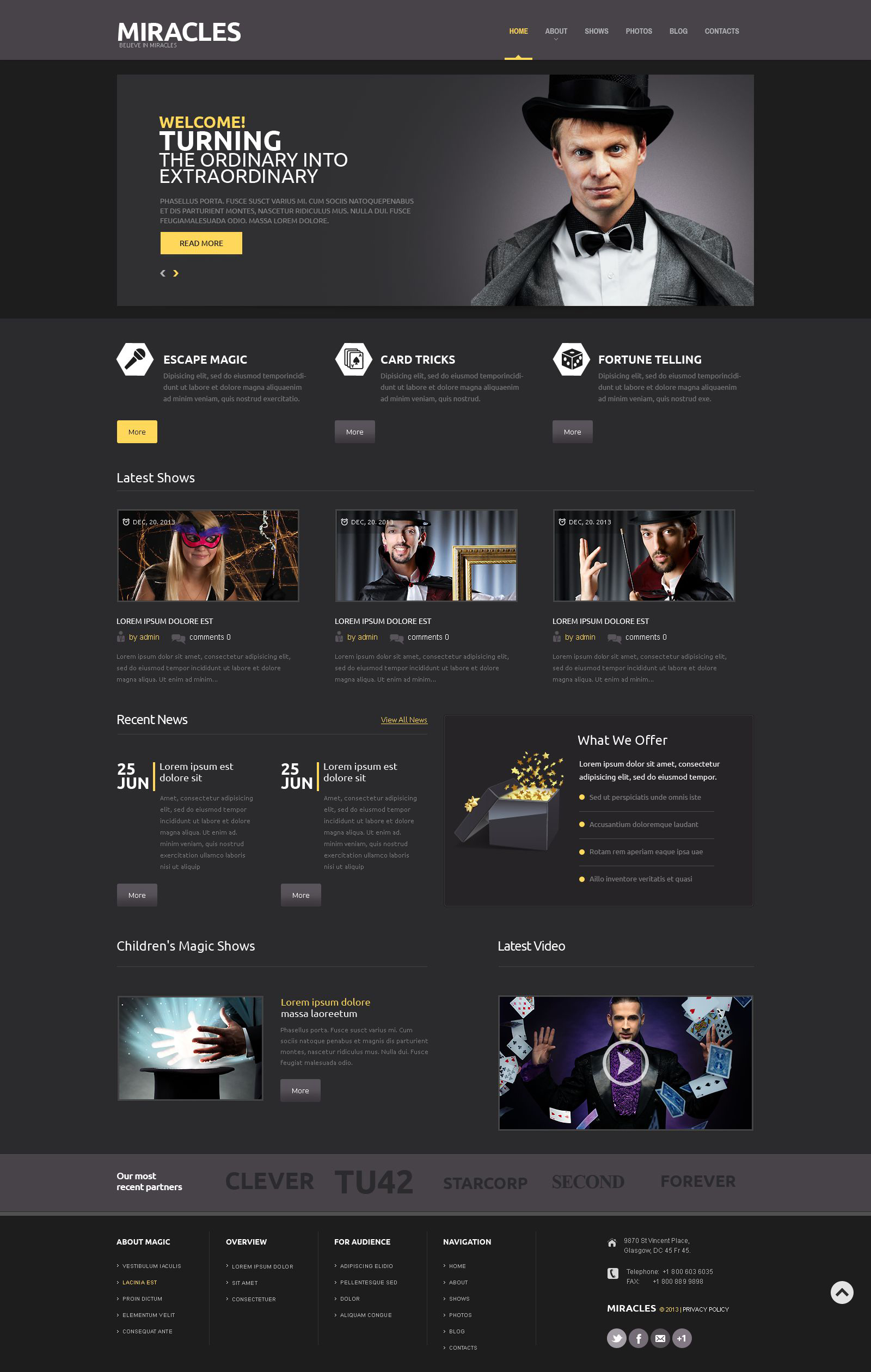 Entertainment Responsive WordPress Theme