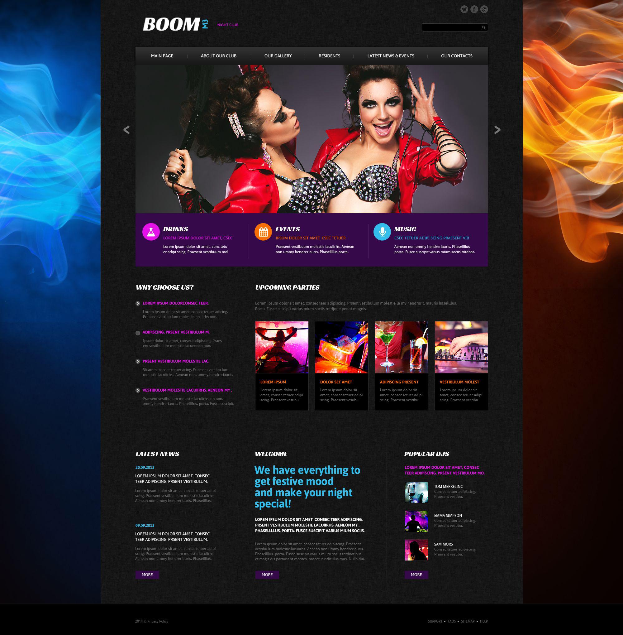 Boom M3 Website Template