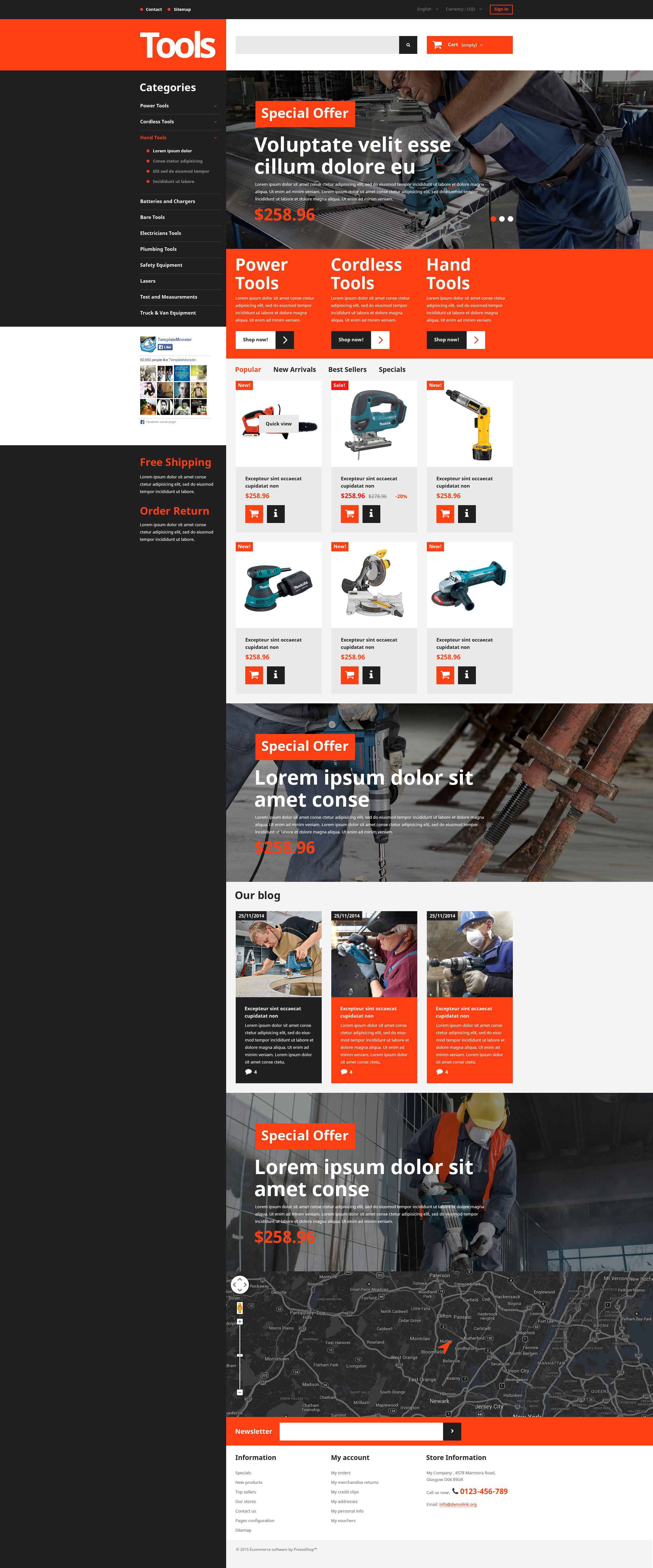 Tools and Supplies PrestaShop Theme