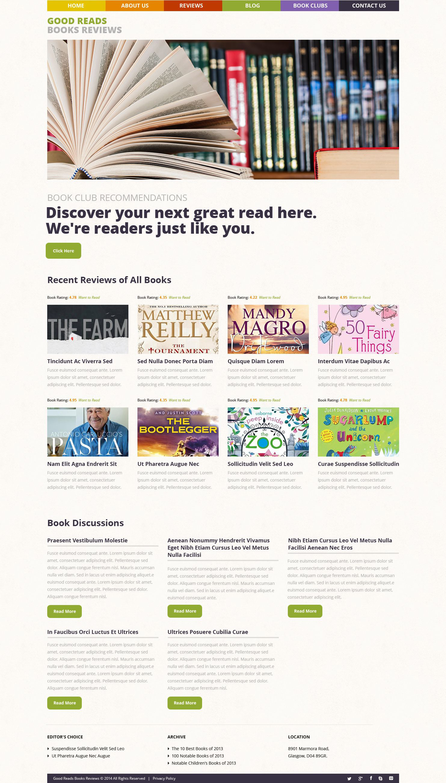 Books Reviews WordPress Theme