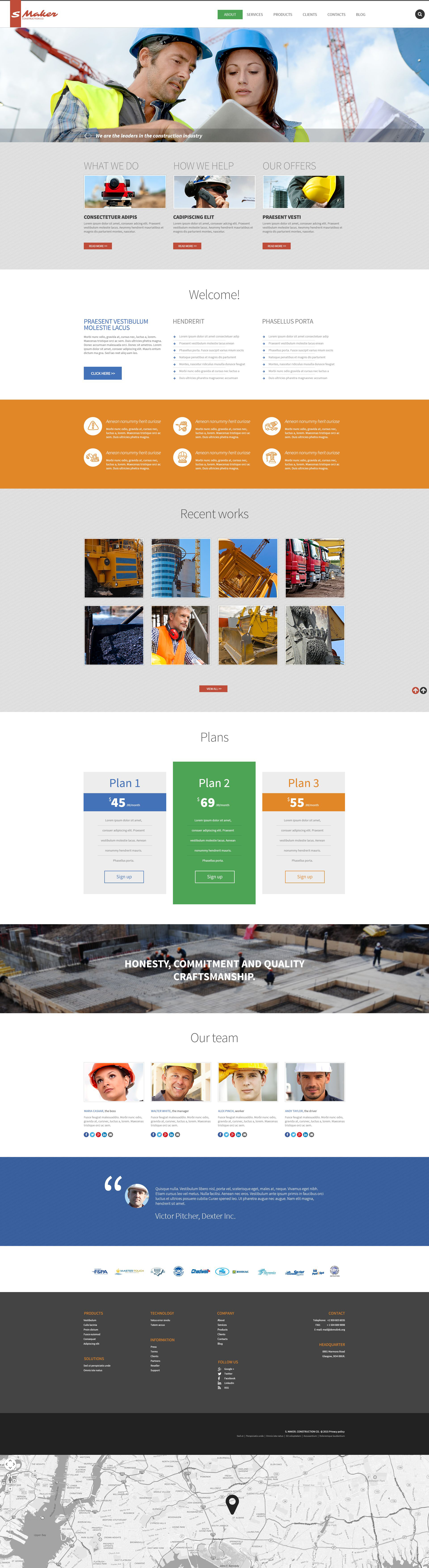 Civil Construction Drupal Template