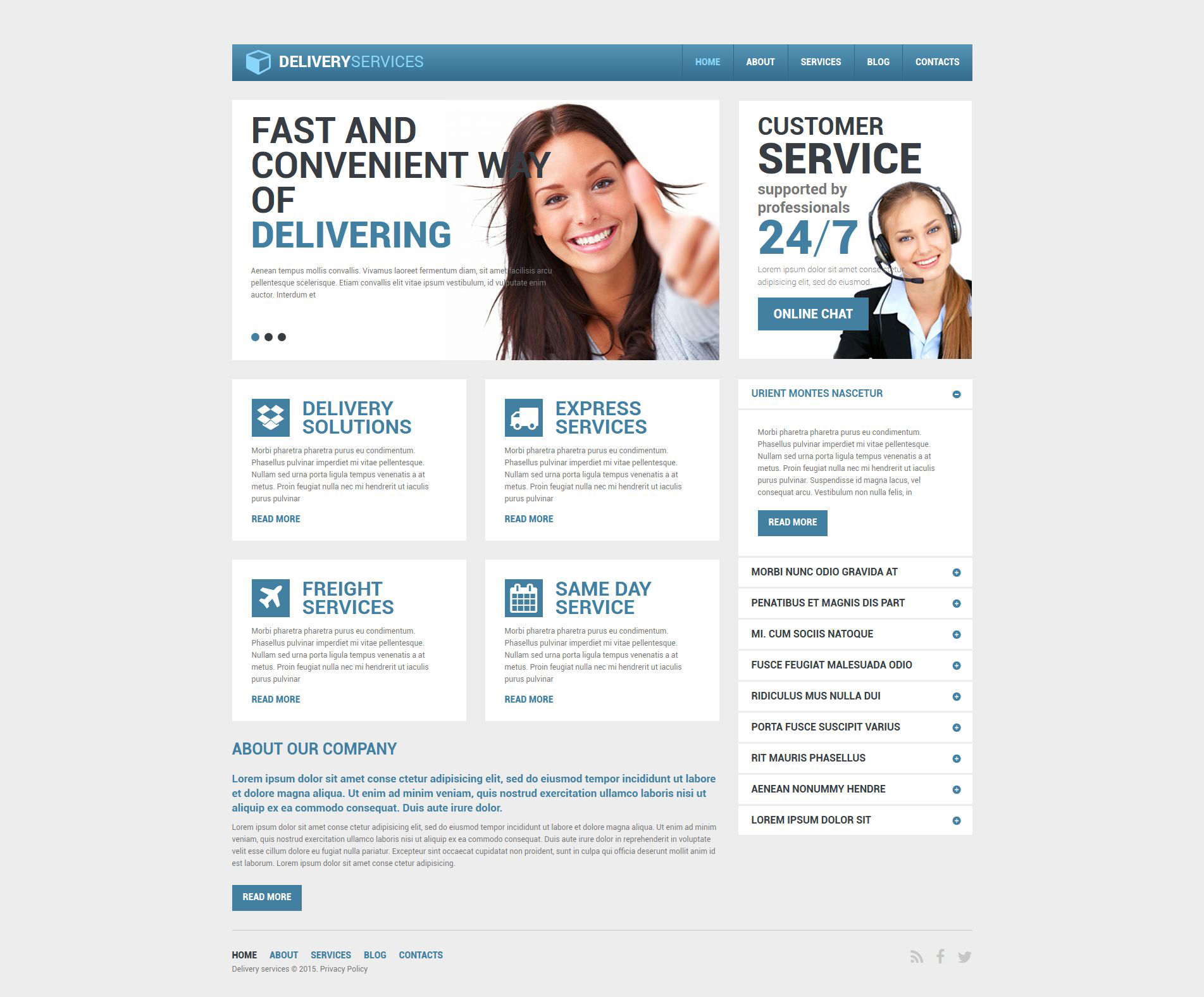 Delivery Services Responsive Drupal Template