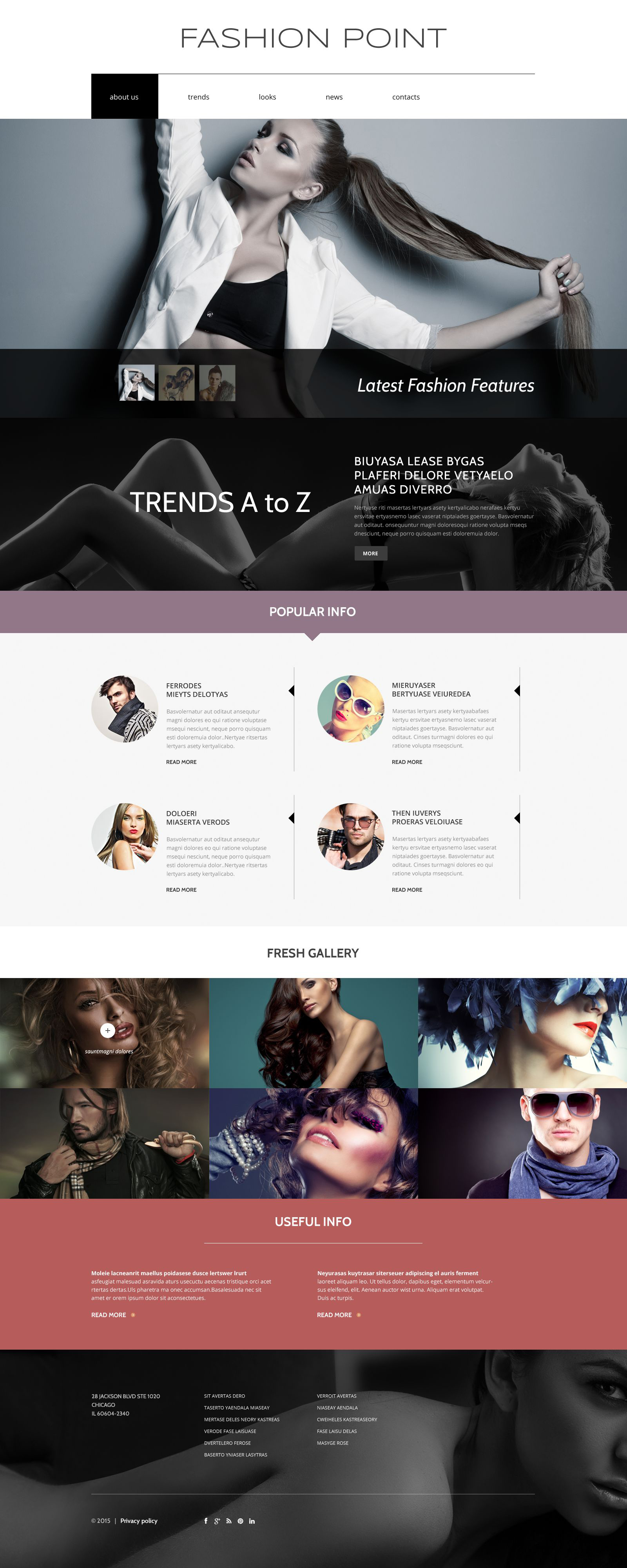 Fashion Agency Drupal Template