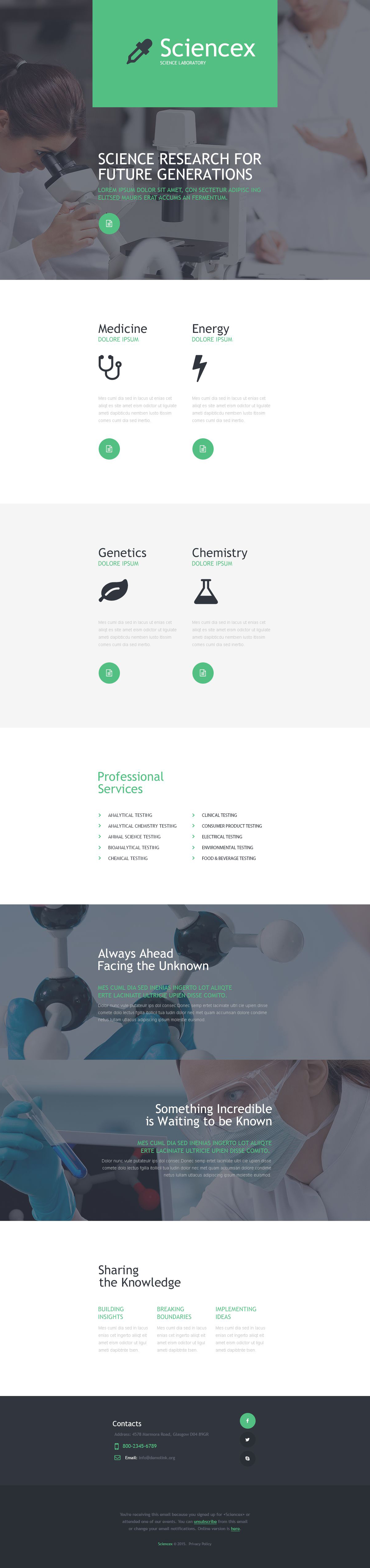Science Lab Responsive Newsletter Template