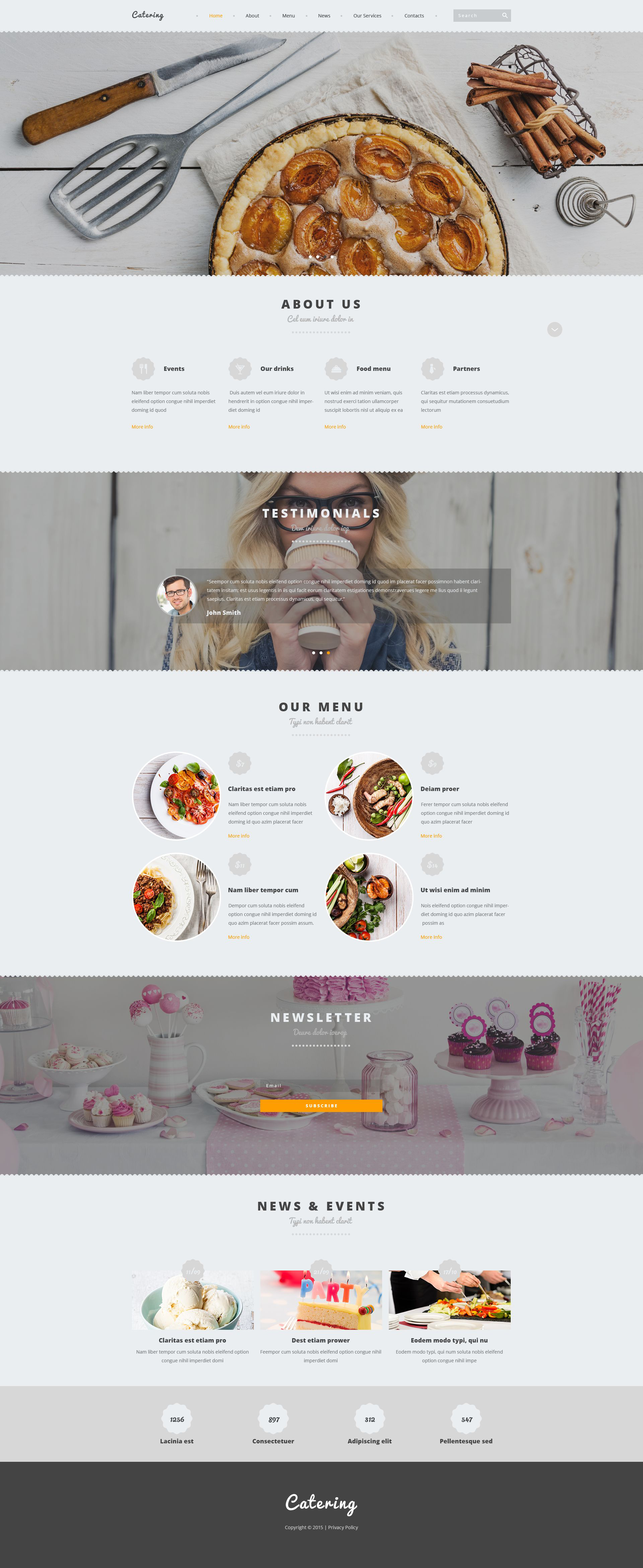 Catering Joomla Template