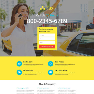 Template Transport Landing Page #53688